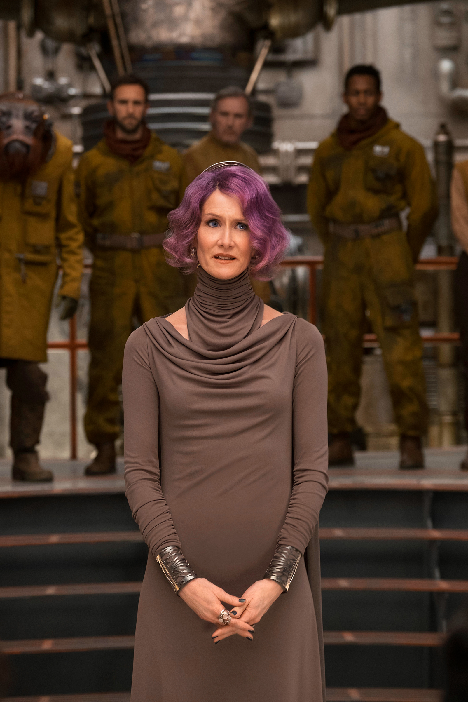 Laura Dern is Vice Admiral Holdo in THE LAST JEDI.