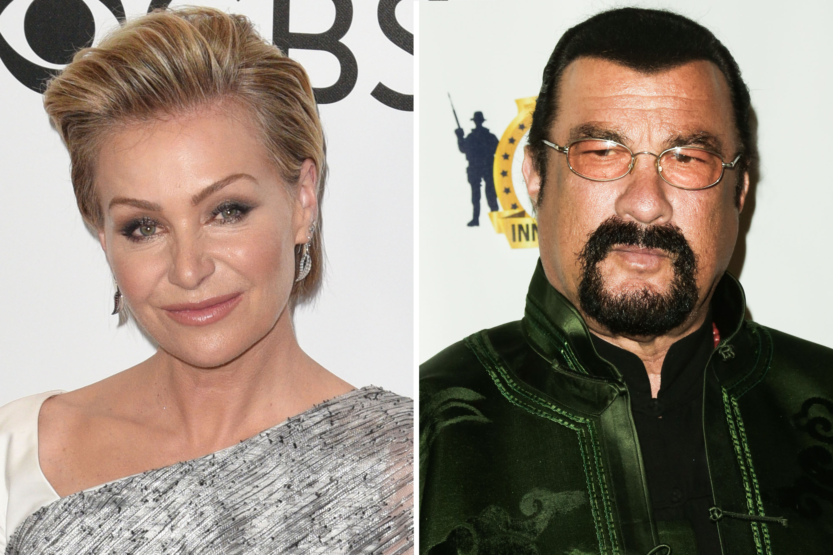 Actress Portia de Rossi claims Steven Seagal unzipped his pants in front of her during an audition.