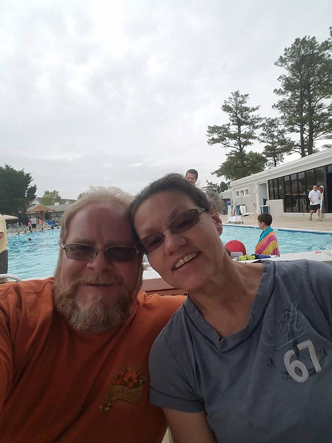Husband R. Scott Marshall and wife Karen Marshall, victims of the mass shooting at the First Baptist Church in Sutherland Springs, Texas, are seen in this handout photo obtained Nov. 7, 2017.