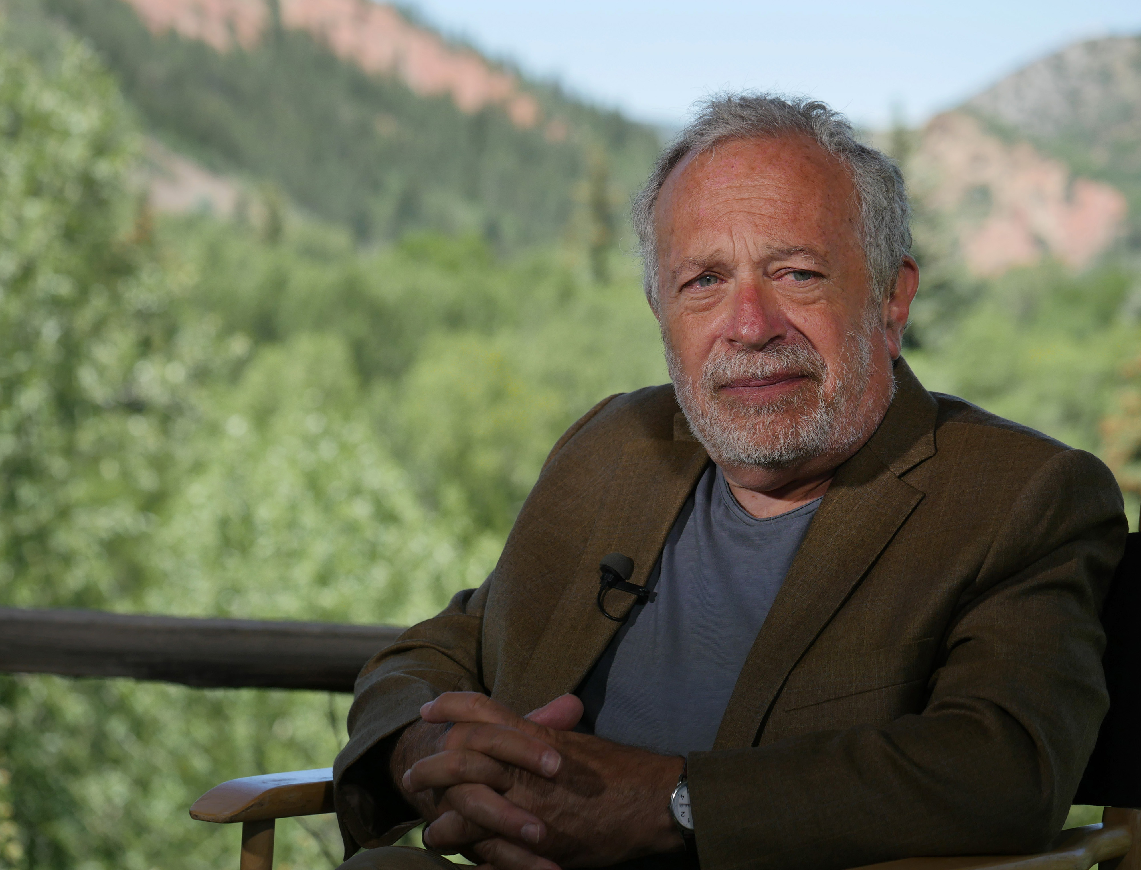 Robert Reich, former U.S. Labor Secretary, listens to a question during a Bloomberg Television interview at the Aspen Ideas Festival in Aspen, Colorado on June 30, 2014.