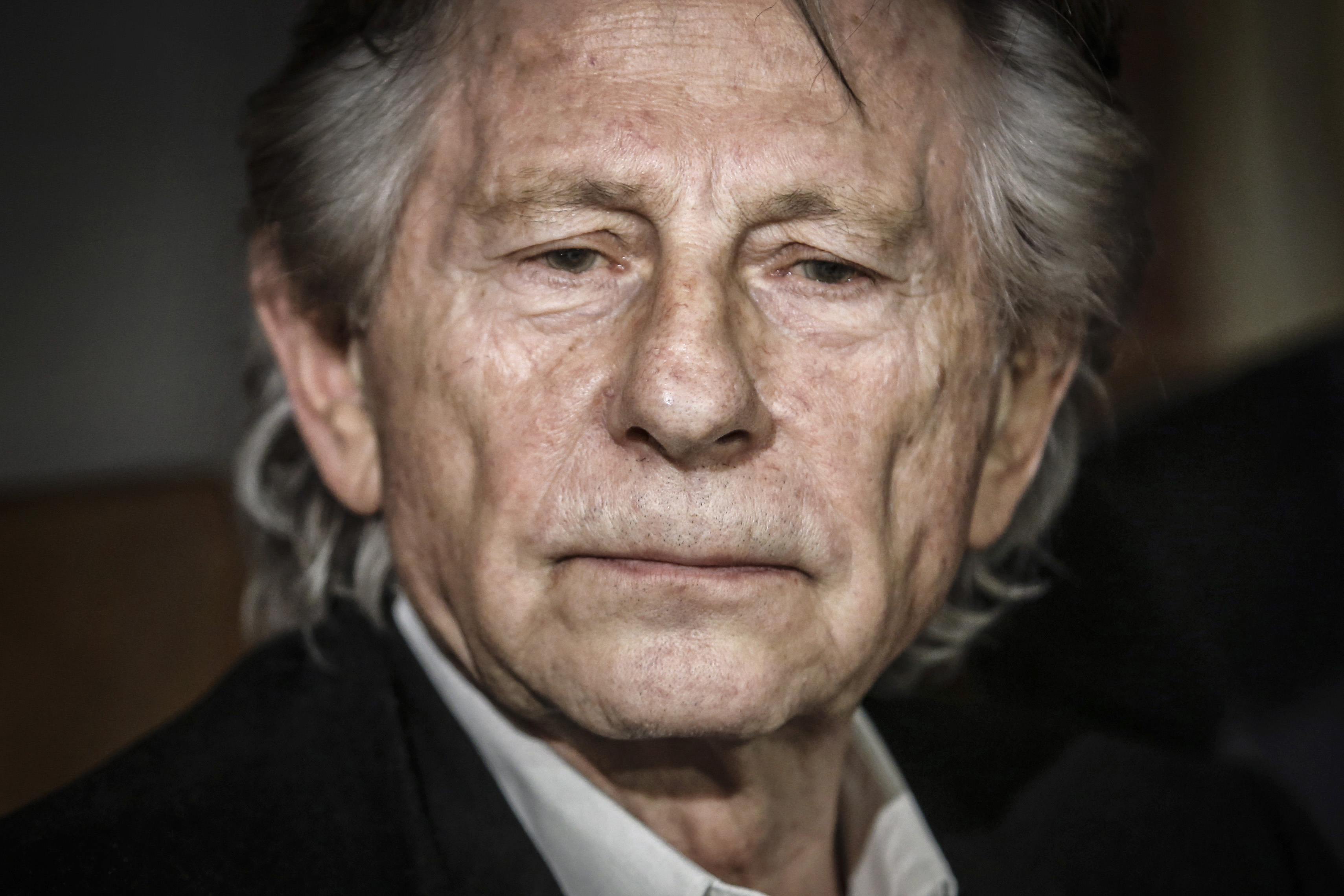 Roman Polanski talks to the media in Krakow, Poland, on October 30, 2015.