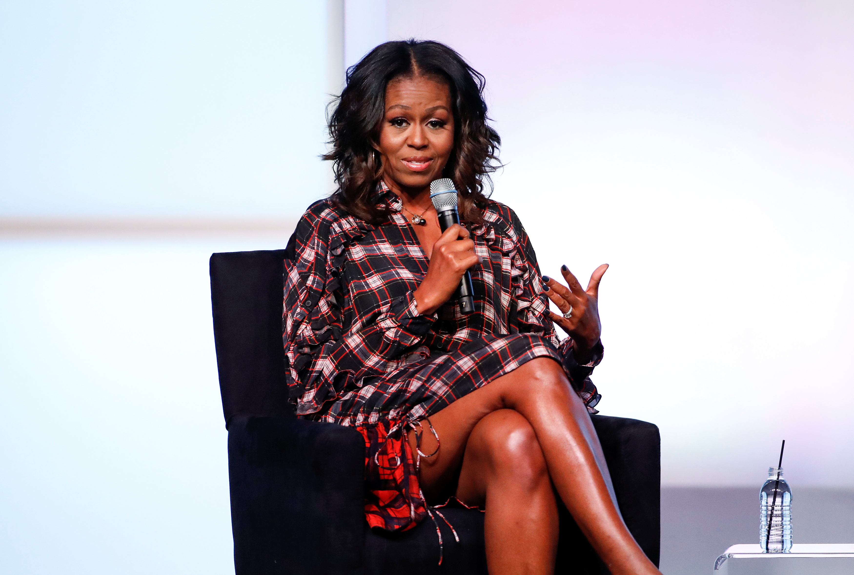 Former First Lady Michelle Obama speaks during the second day of the inaugural Obama Foundation Summit in Chicago, on Nov. 1, 2017.