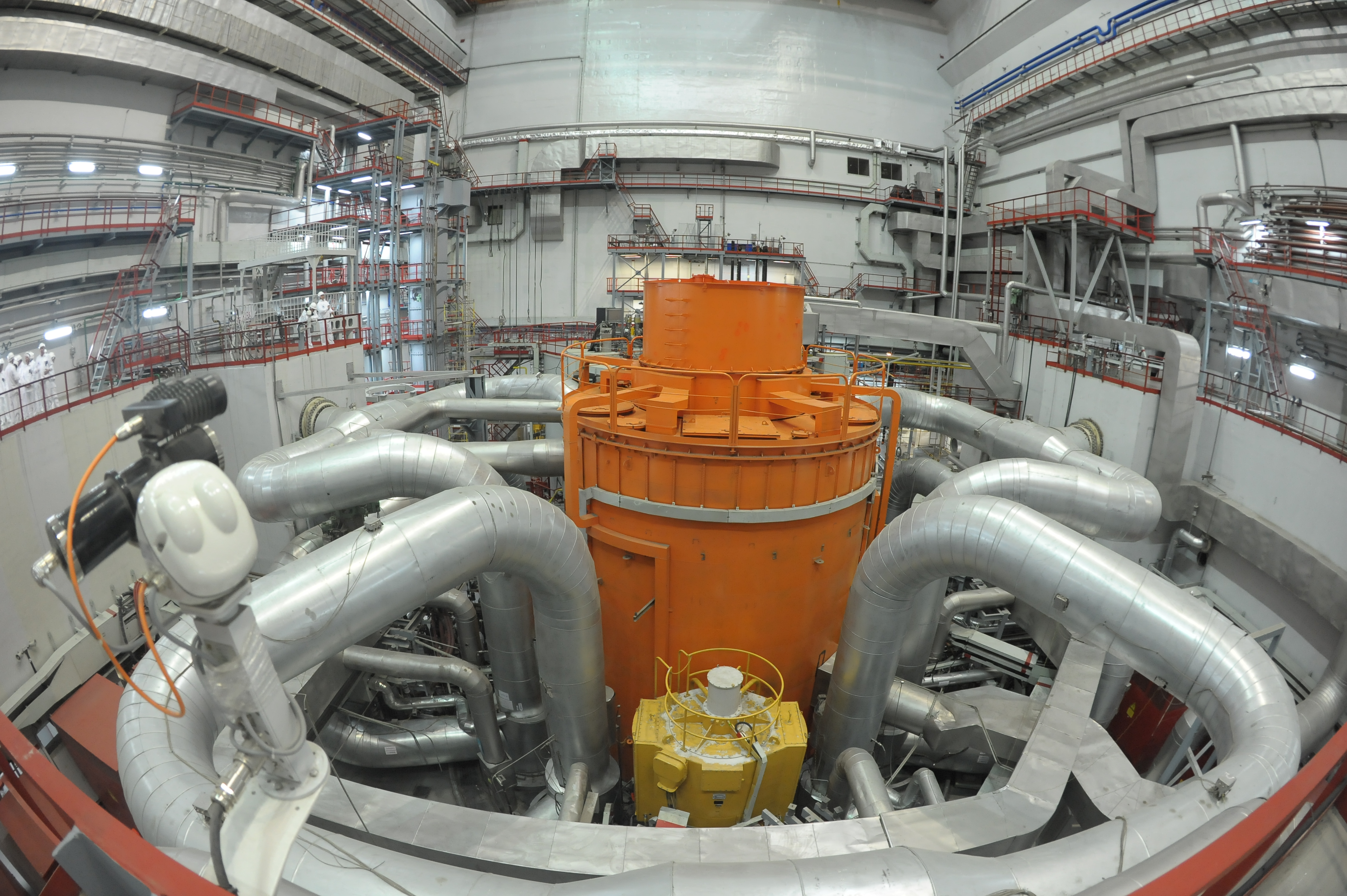 An interior view of the core of the Russian Fast Breeder Reactor on June 27, 2017 in Zarechny, Svedlovsk Oblast, Russia.