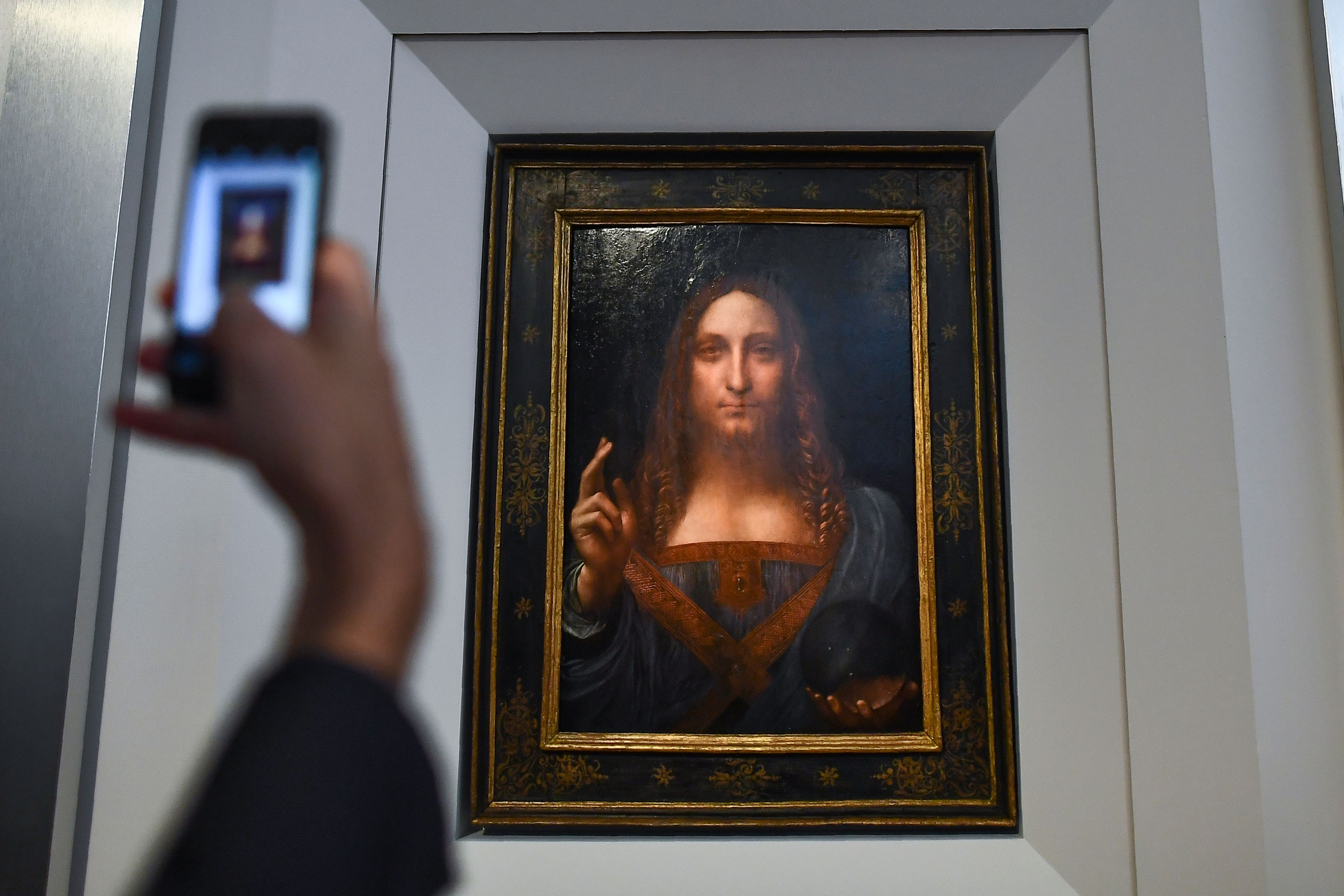 Salvator Mundi  after it was unveiled at Christie's in New York