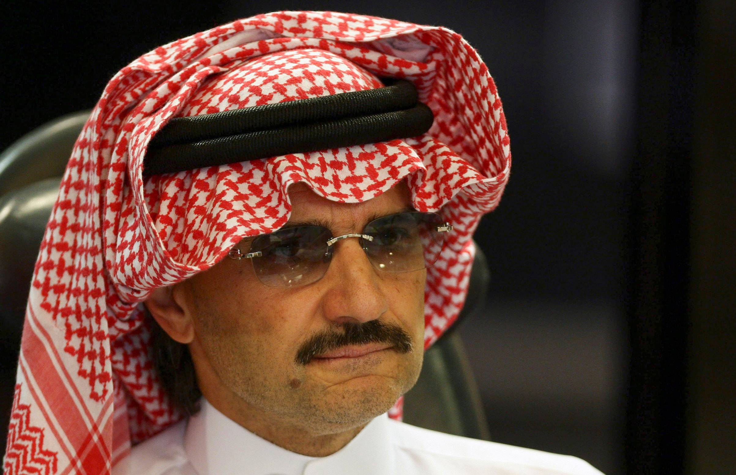 Saudi Prince Alwaleed bin Talal attends a news conference in Riyadh, Saudi Arabia, in August 2009.