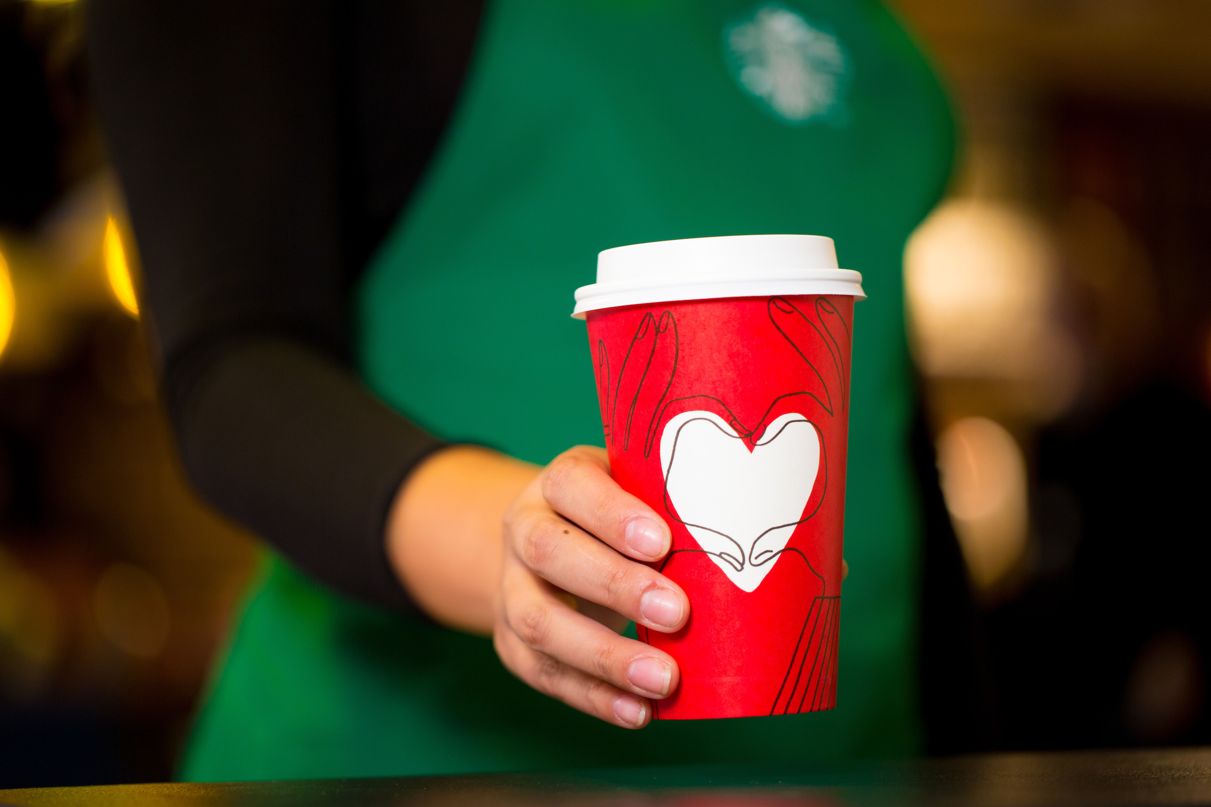 Starbucks' 2017 holiday cup.