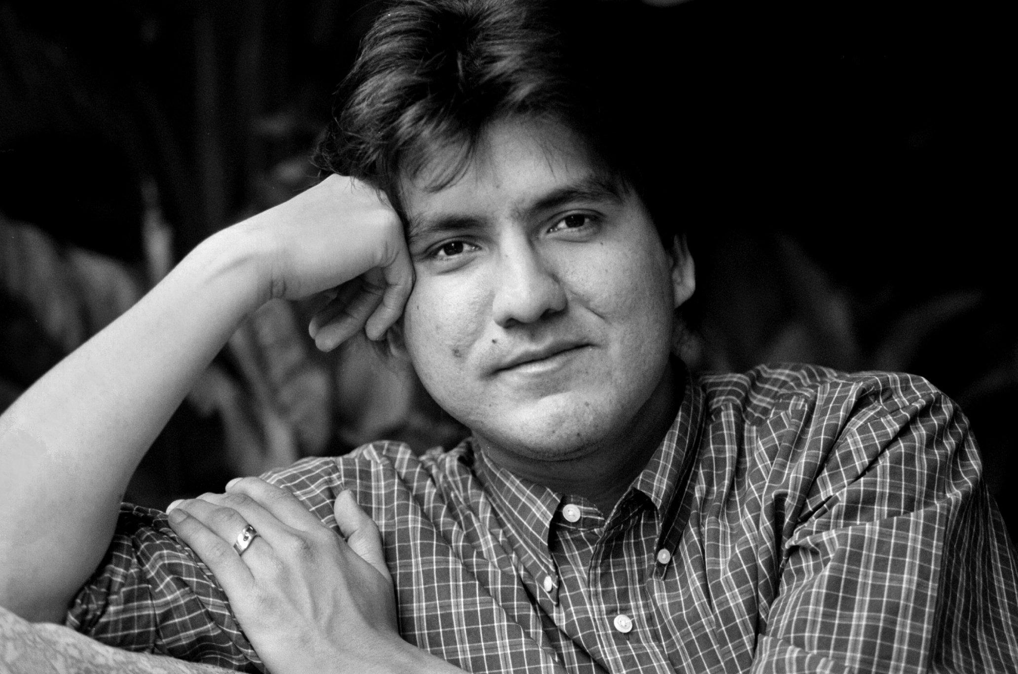 Sherman Alexie is the writer/director of 'Smoke Signals,' a film about Native American Indians opening next Friday.