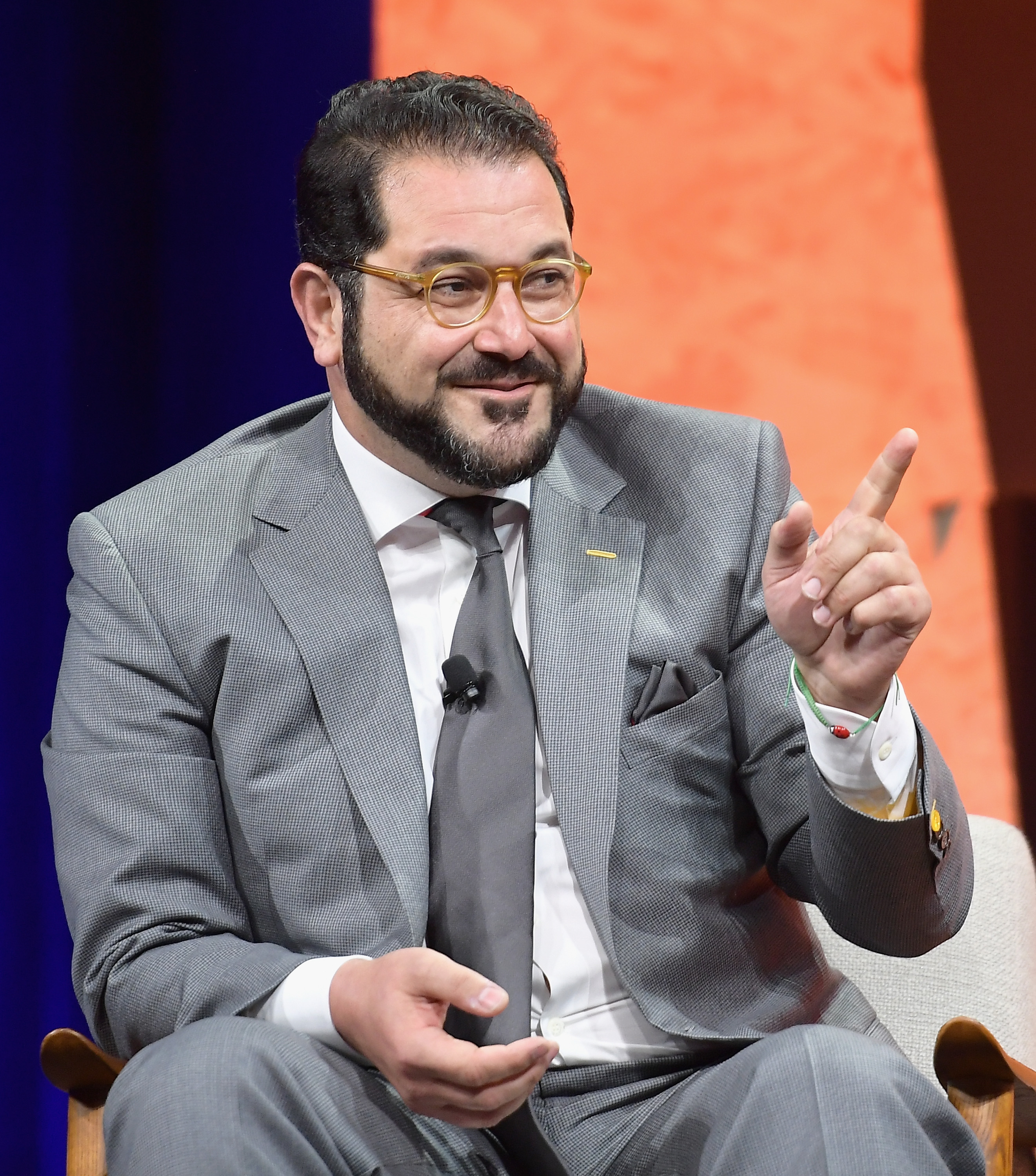 Co-Founder and Managing Director of Sherpa Capital Shervin Pishevar speaks onstage during Vanity Fair New Establishment Summit Beverly Hills, Calif. on Oct. 3, 2017.