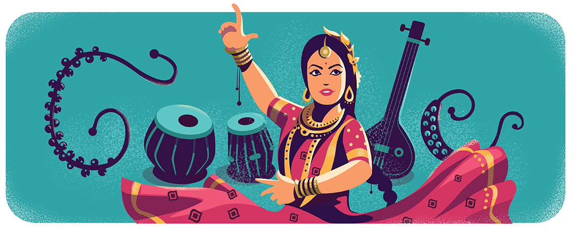 Sitara Devi, a legendary Kathak dancer known as the Nritya Samragini, or Empress of Dance.