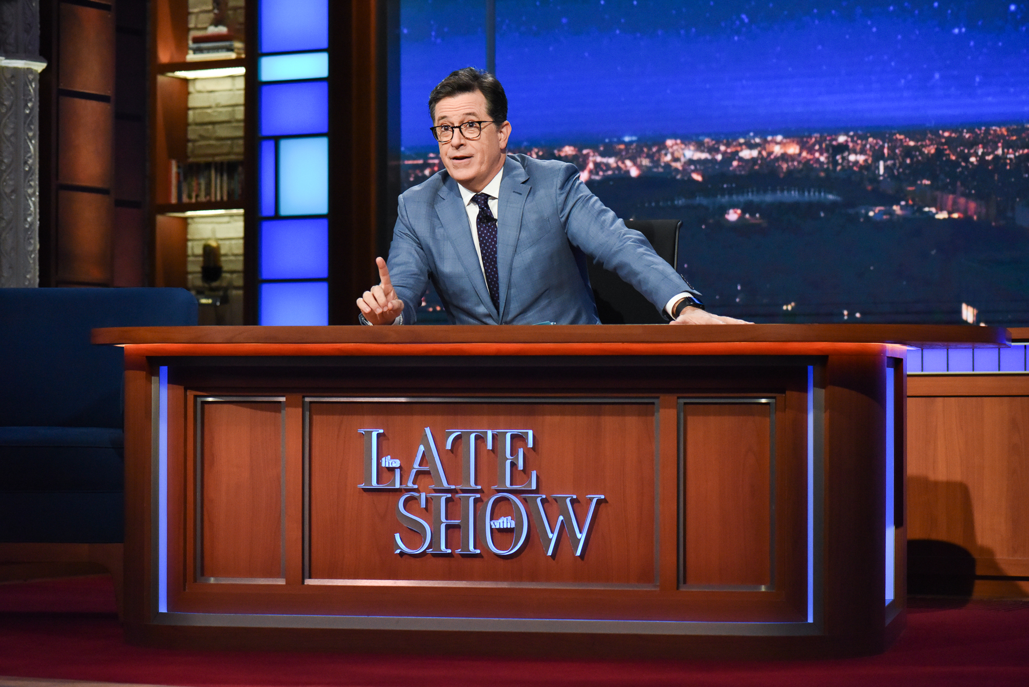 The Late Show with Stephen Colbert during Monday's June 26, 2017 show.