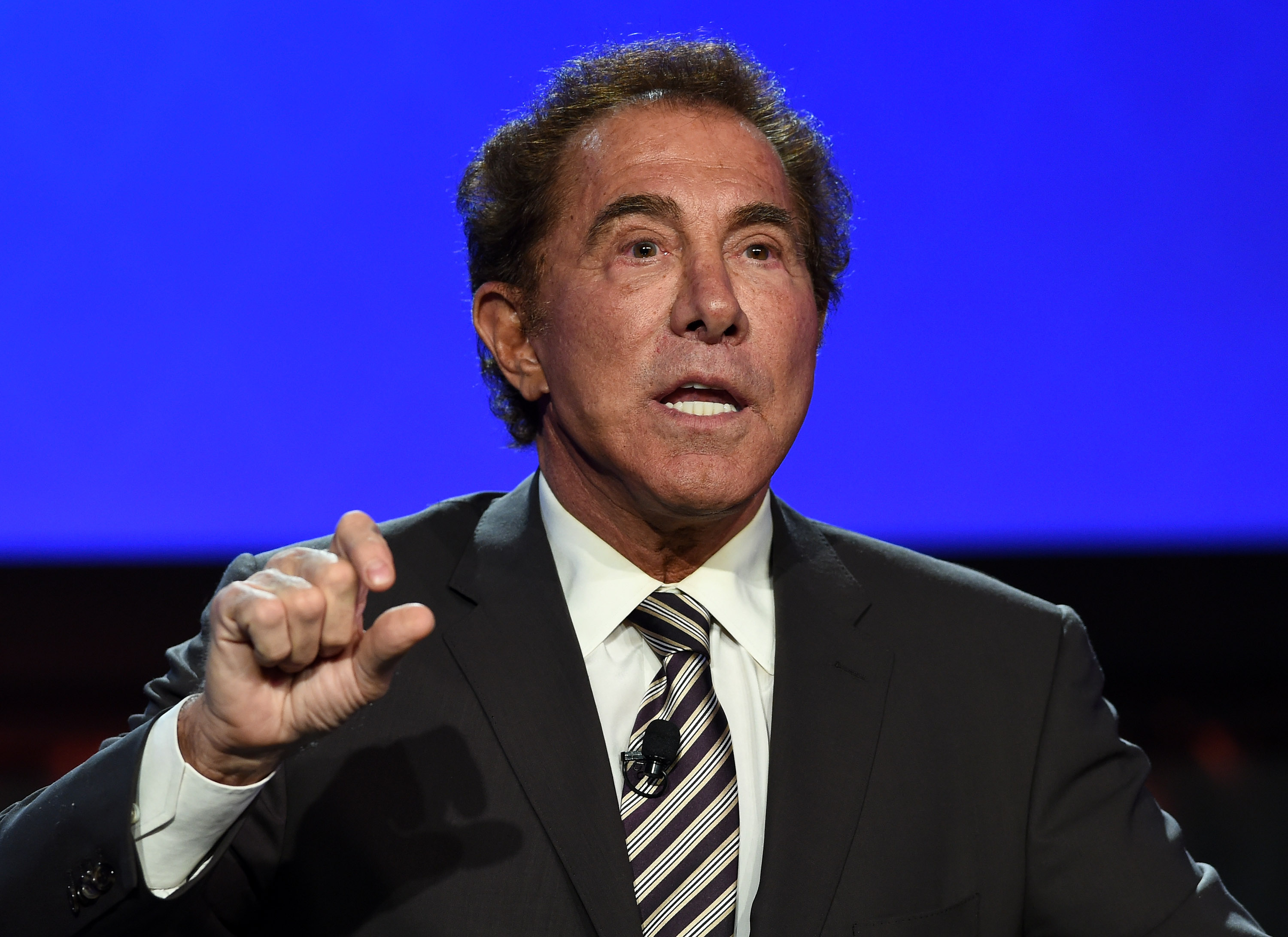 Wynn Resorts Chairman and CEO Steve Wynn speaks at the Global Gaming Expo (G2E) 2014 at The Venetian Las Vegas on September 30, 2014 in Las Vegas, Nevada.