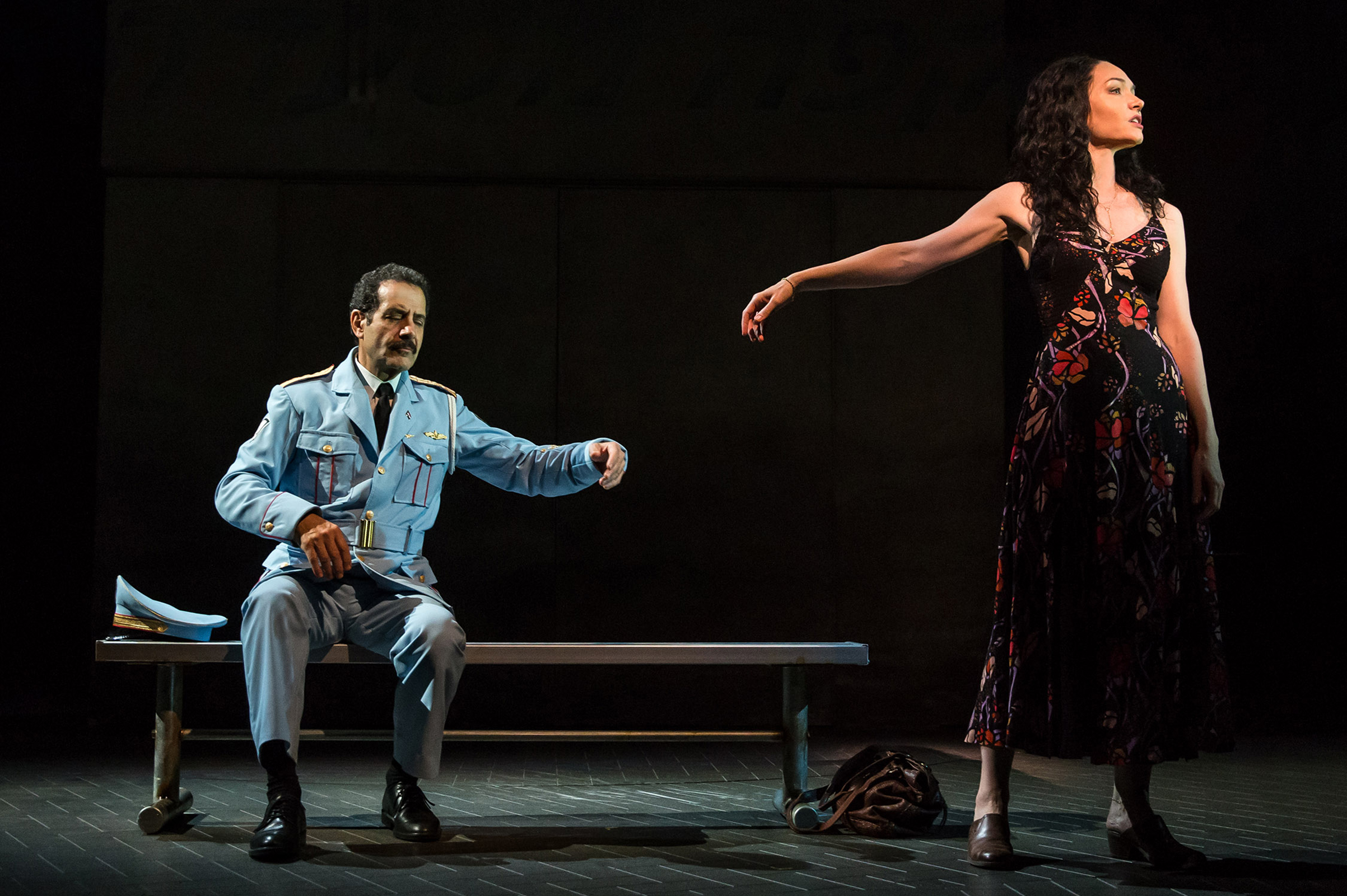 Tony Shalhoub and Katrina Lenk in The Band's Visit