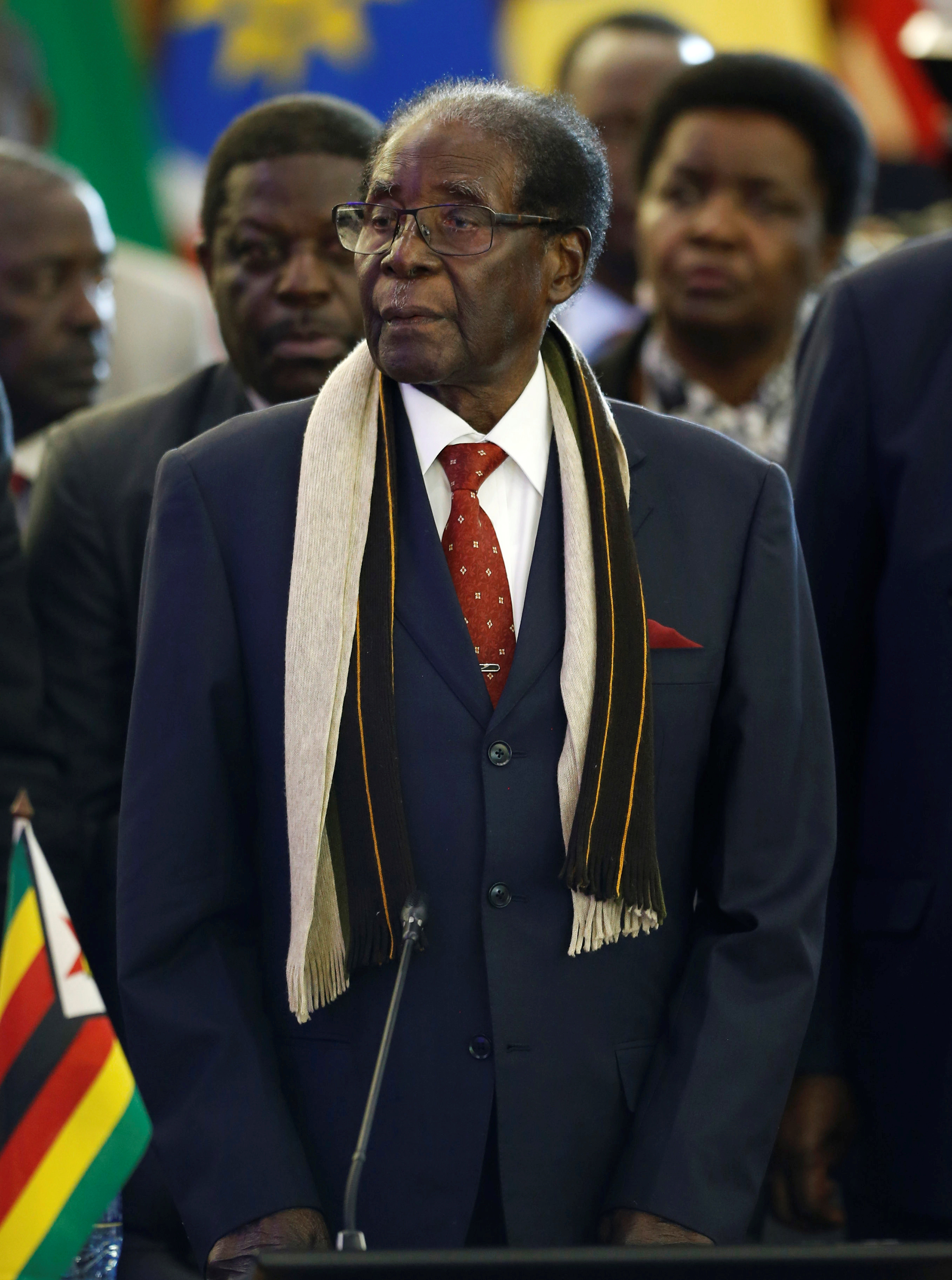 Zimbabwean President Robert Mugabe attends the 37th Ordinary SADC Summit of Heads of State and Government in Pretoria, South Africa, August 19, 2017.