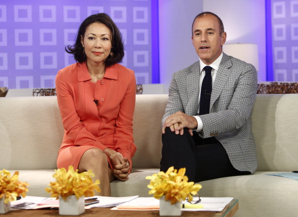 Ann Curry and Matt Lauer appear on NBC News' TODAY show