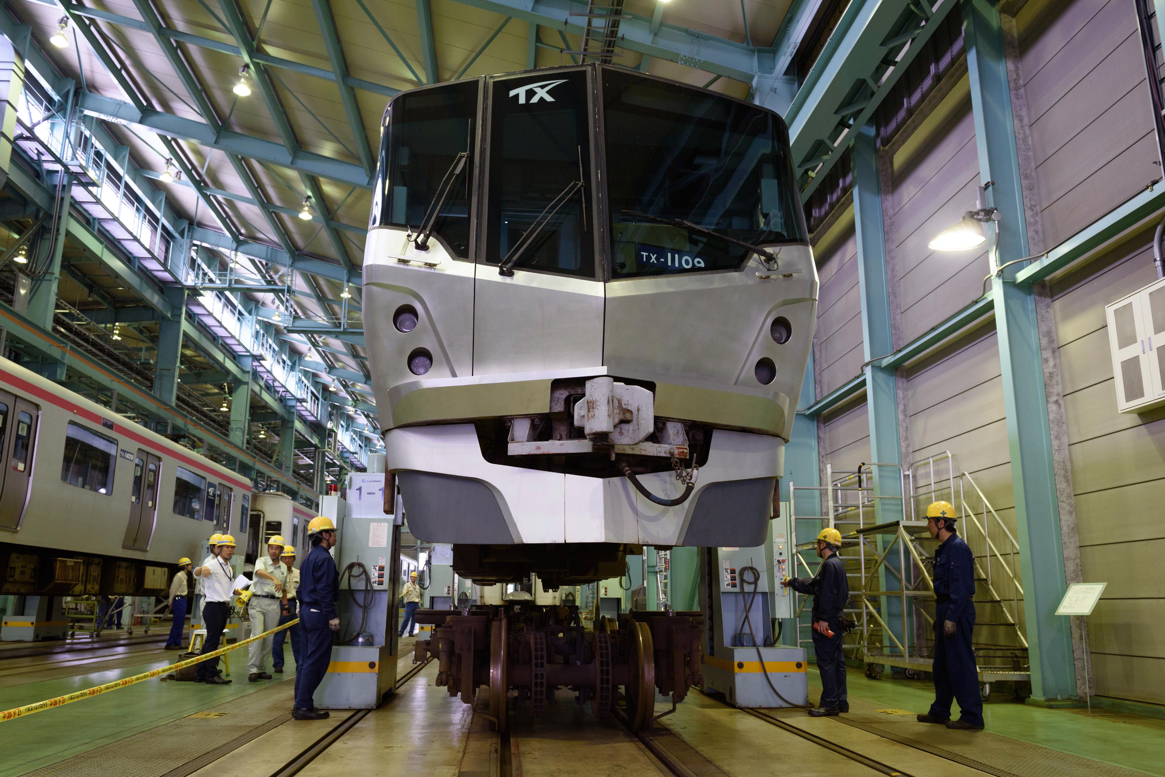 A Tsukuba Express TX-1000 series train