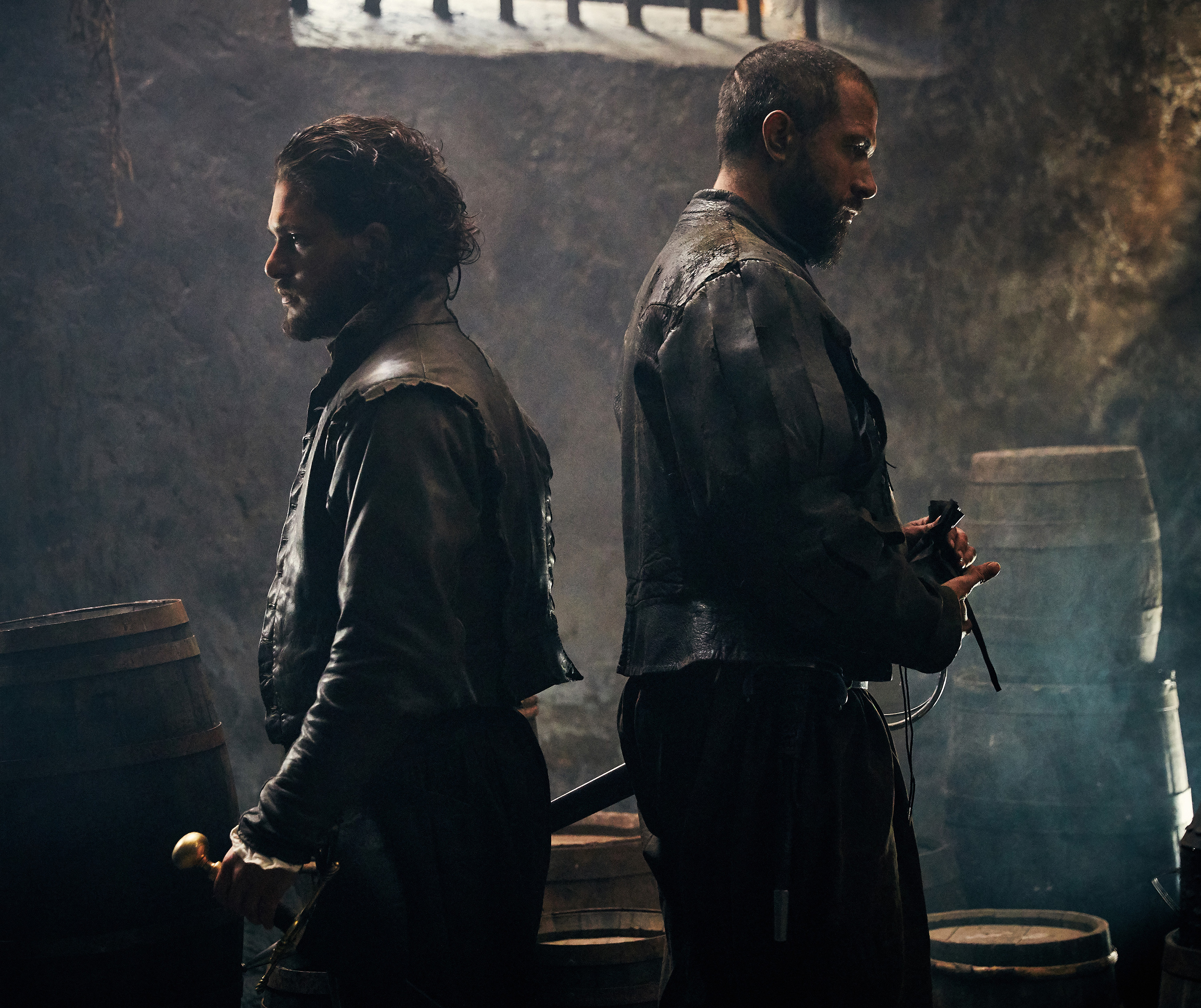 Kit Harington and Tom Cullen in 'Gunpowder'