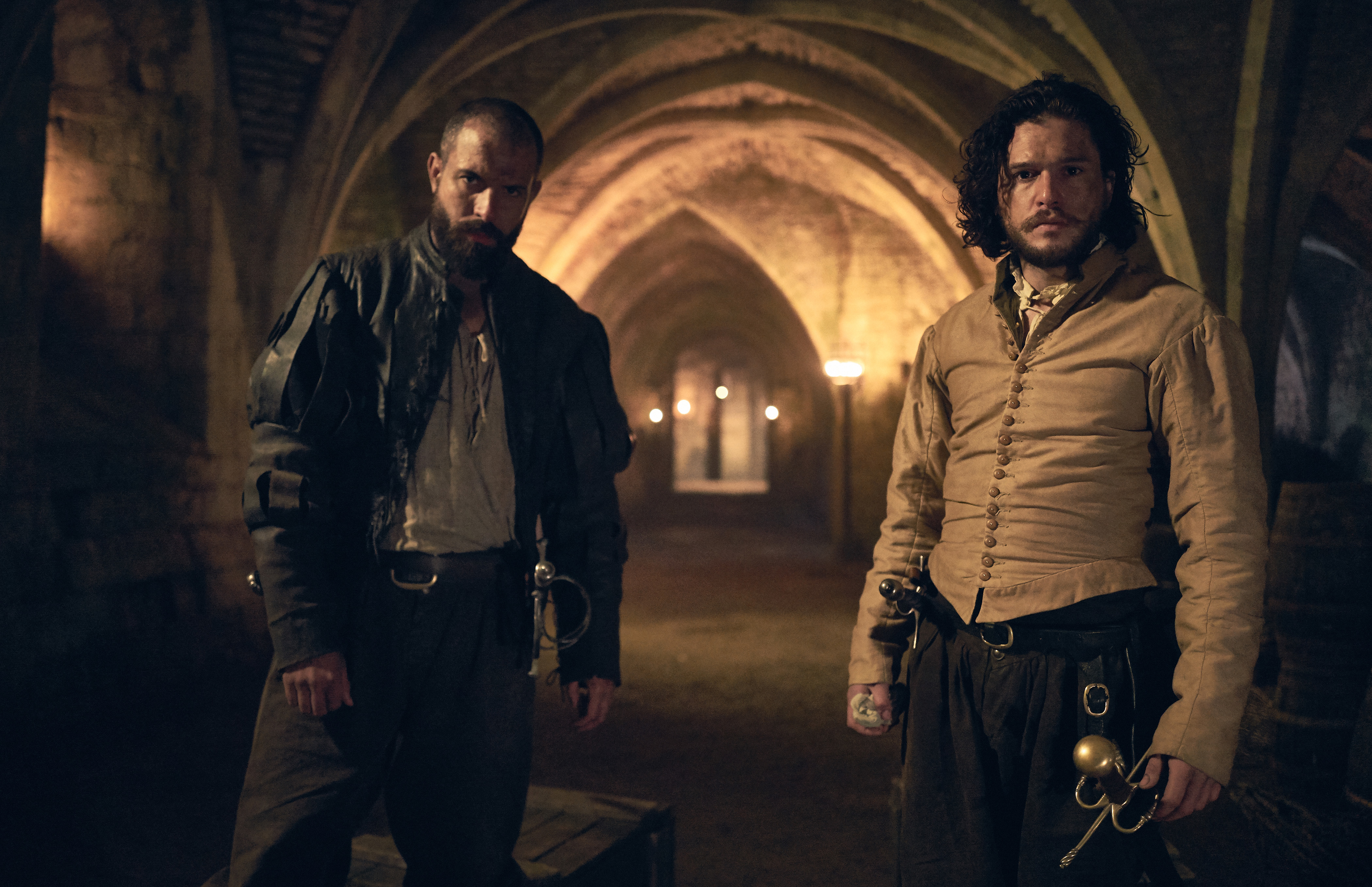 Tom Cullen and Kit Harington in 'Gunpowder'