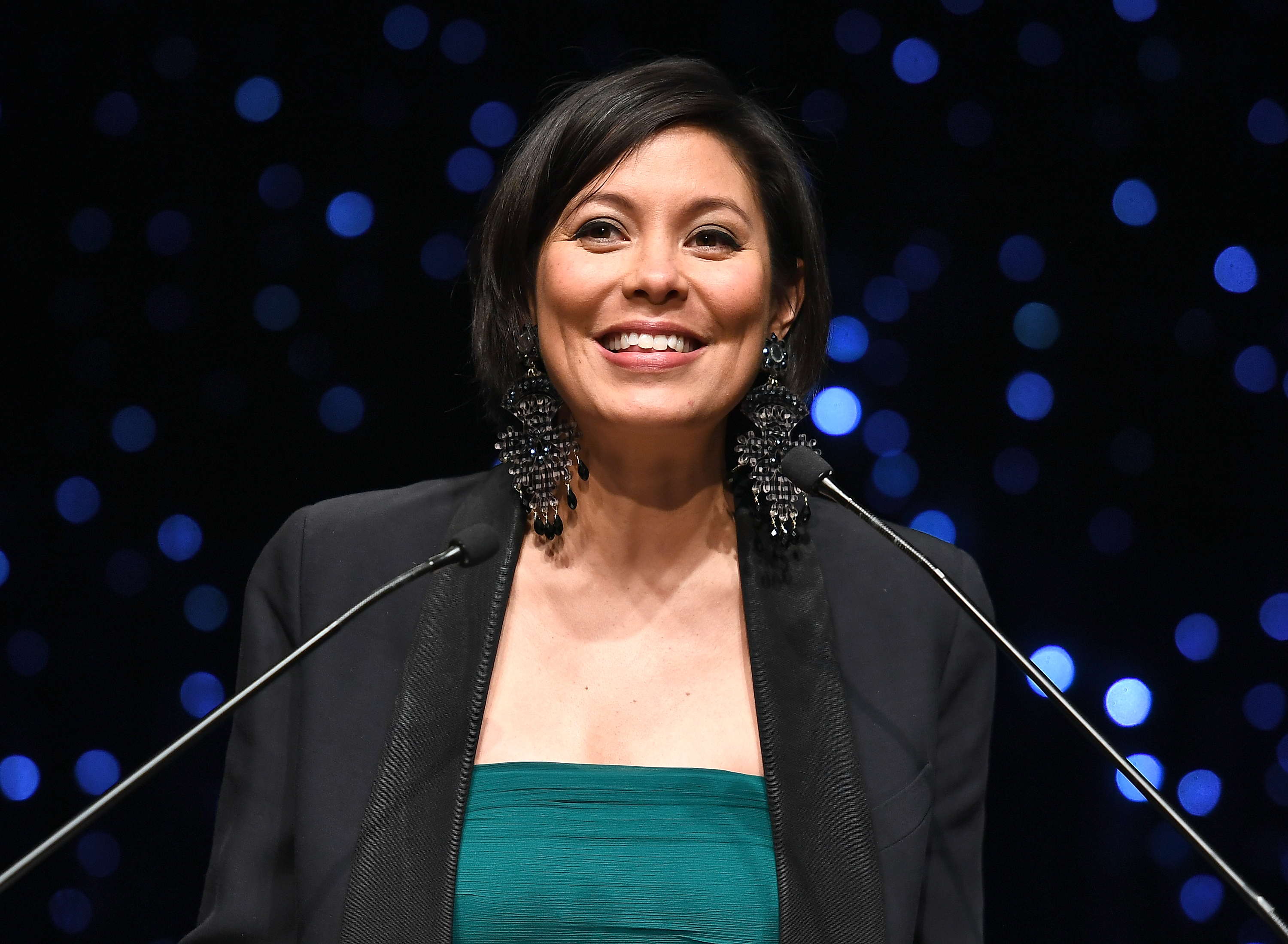 Alex Wagner speaks onstage during 69th Writers Guild Awards New York Ceremony at Edison Ballroom on February 19, 2017 in New York City.
