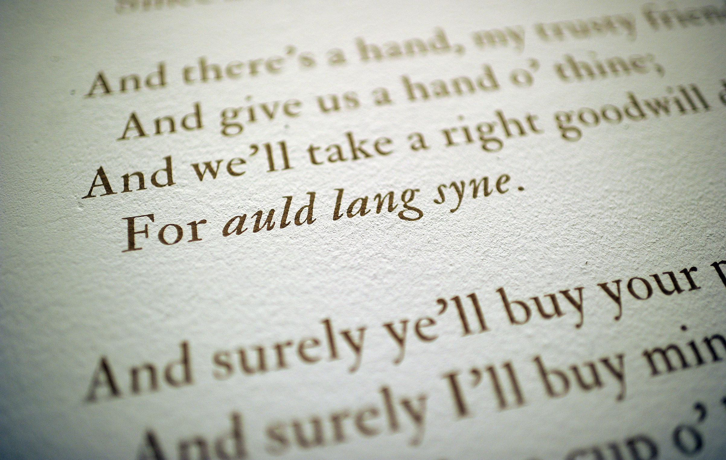 The Lyrics of  Auld Lang Syne  on display as part of an exhibition at the Morgan Library and Museum in New York, Dec. 9, 2011.