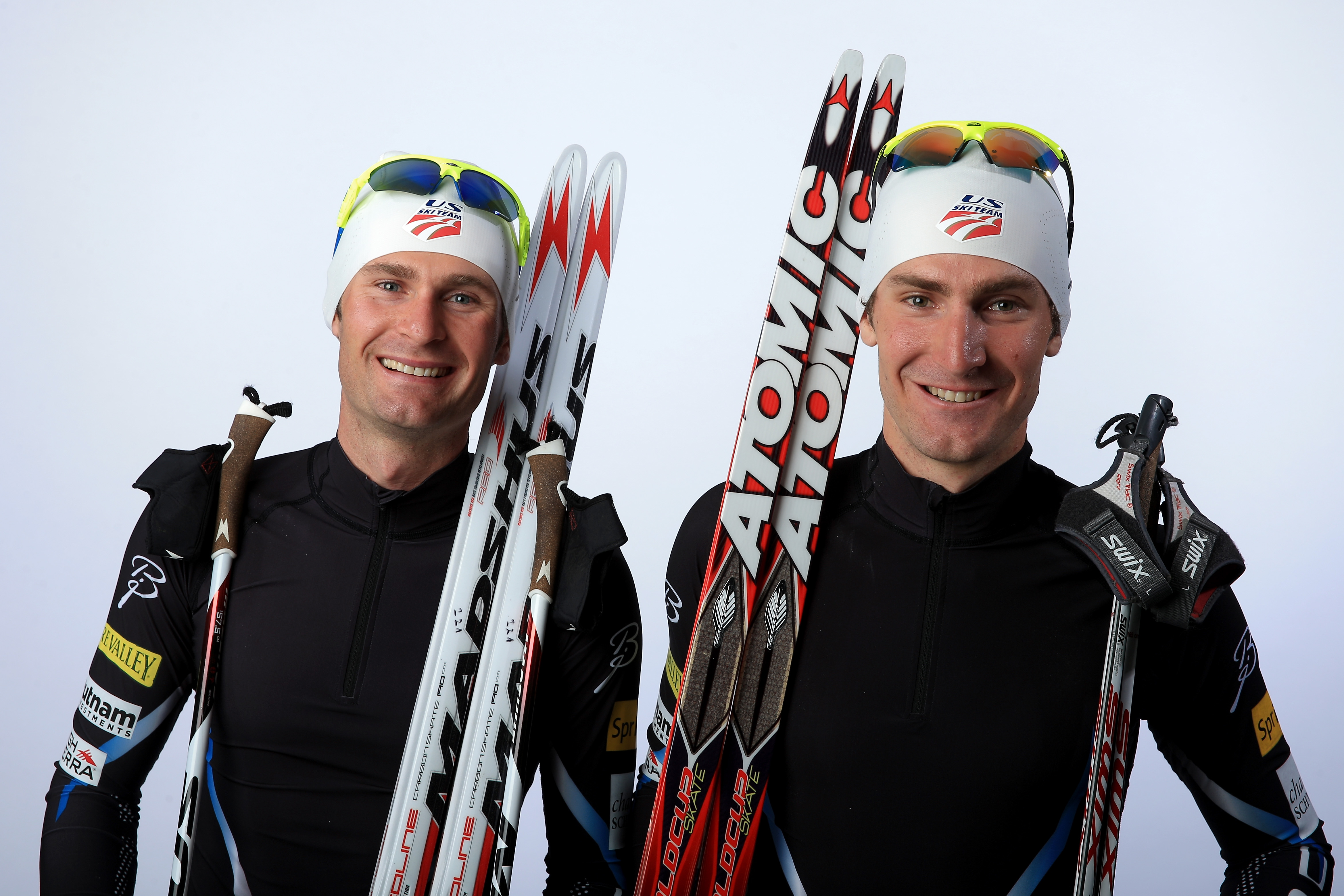 Nordic combined athletes Bryan Fletcher and Taylor Fletcher pose for a portrait during the USOC Media Summit ahead of the Sochi 2014 Winter Olympics on September 29, 2013 in Park City, Utah. Doug Pensinger—Getty Images.