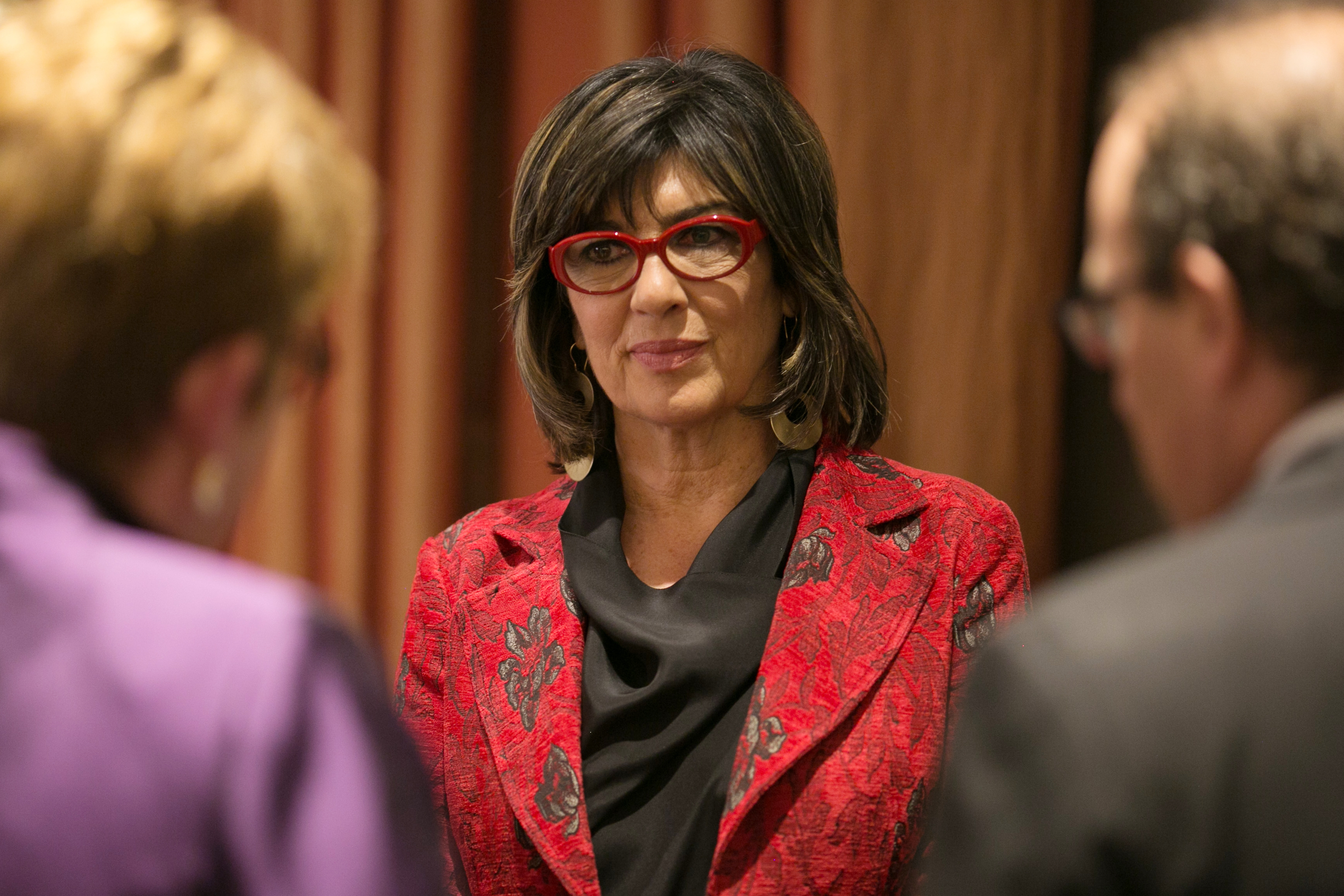 NEW YORK, NY - NOVEMBER 15: Christiane Amanpour speaks with attendees at CPJ's annual International Press Freedom Awards on November 15, 2017 in New York City.