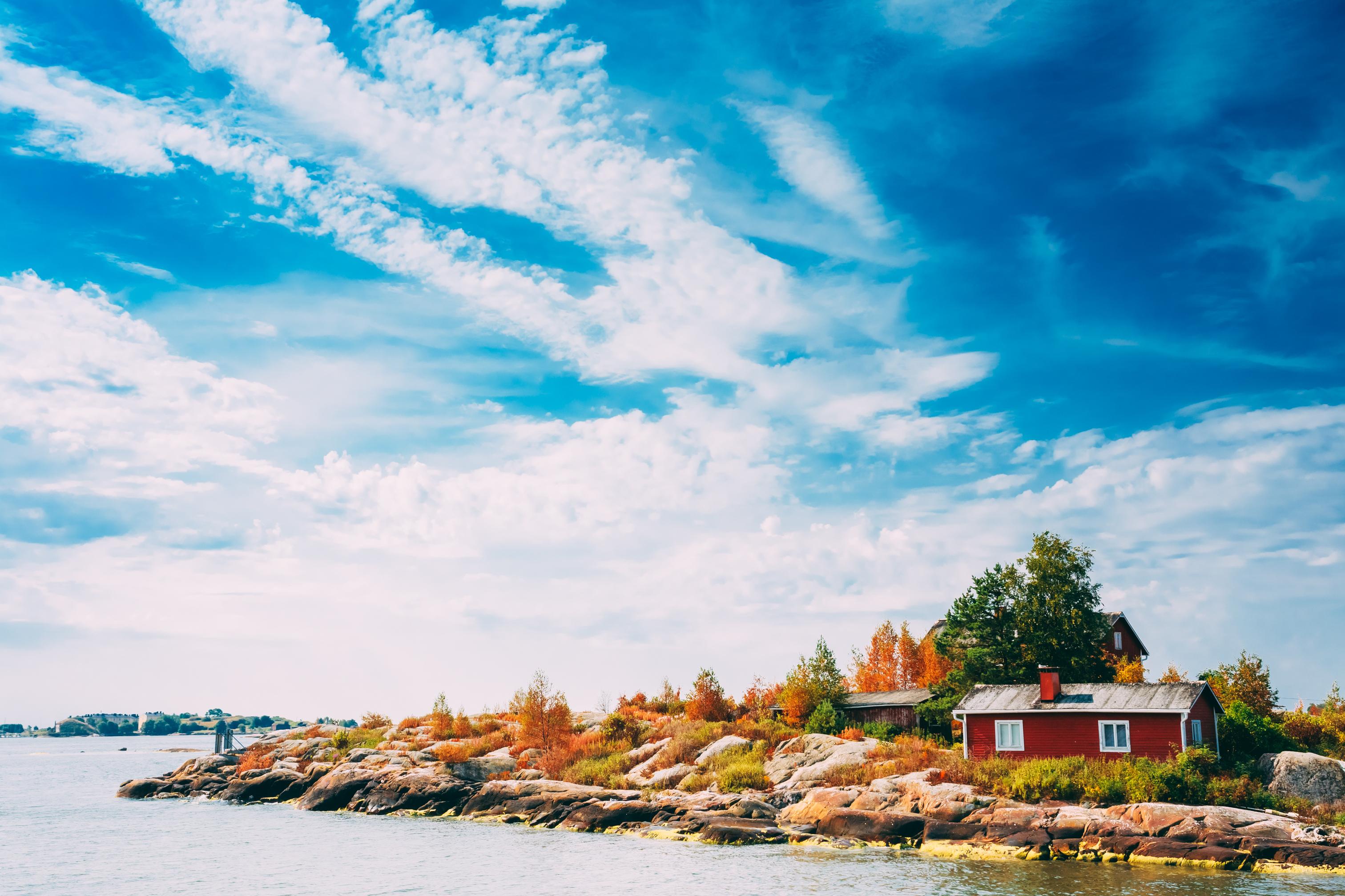 An island near Helsinki, Finland.