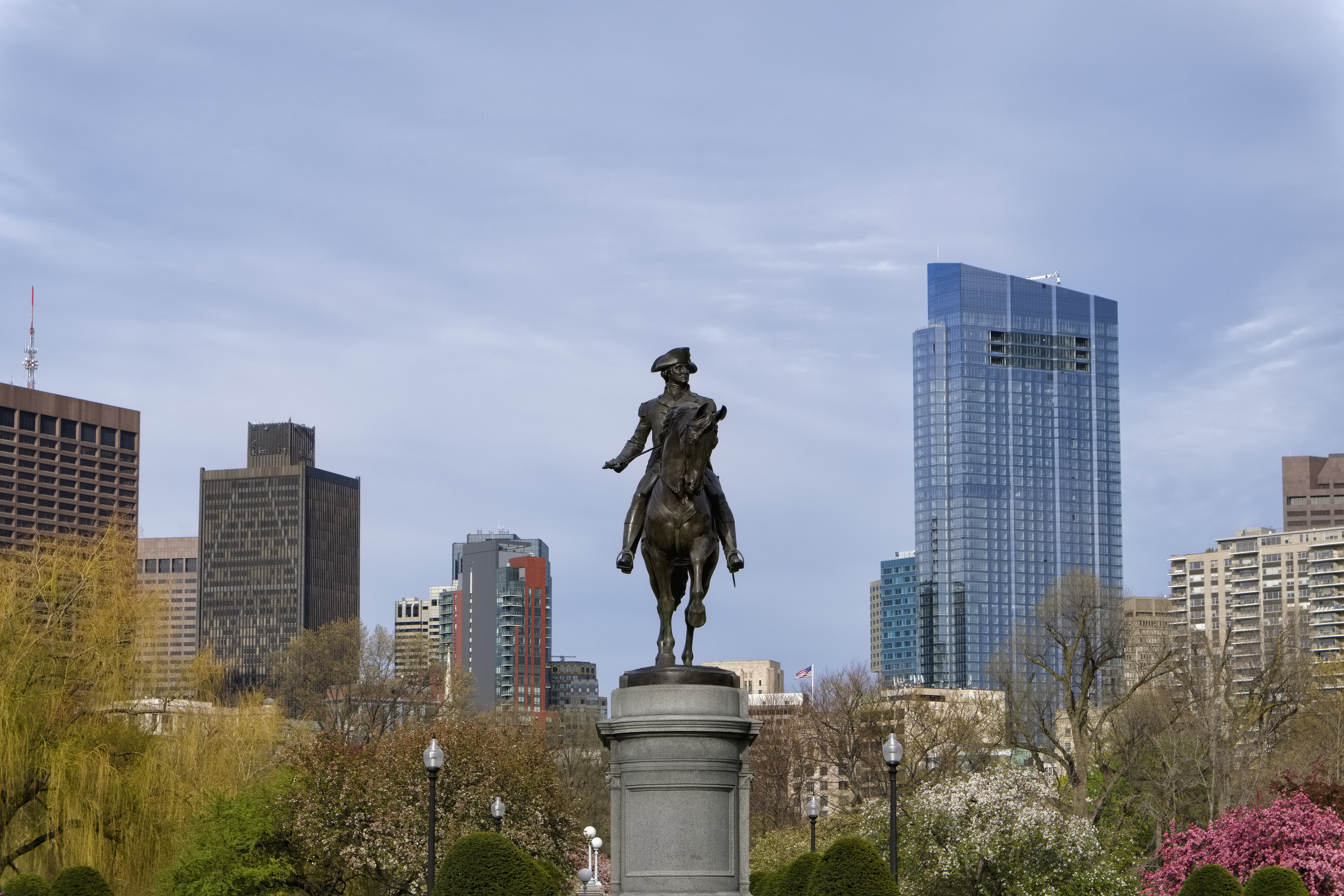 Massachusetts, Boston, Statue of George Washington in Boston Public Garden