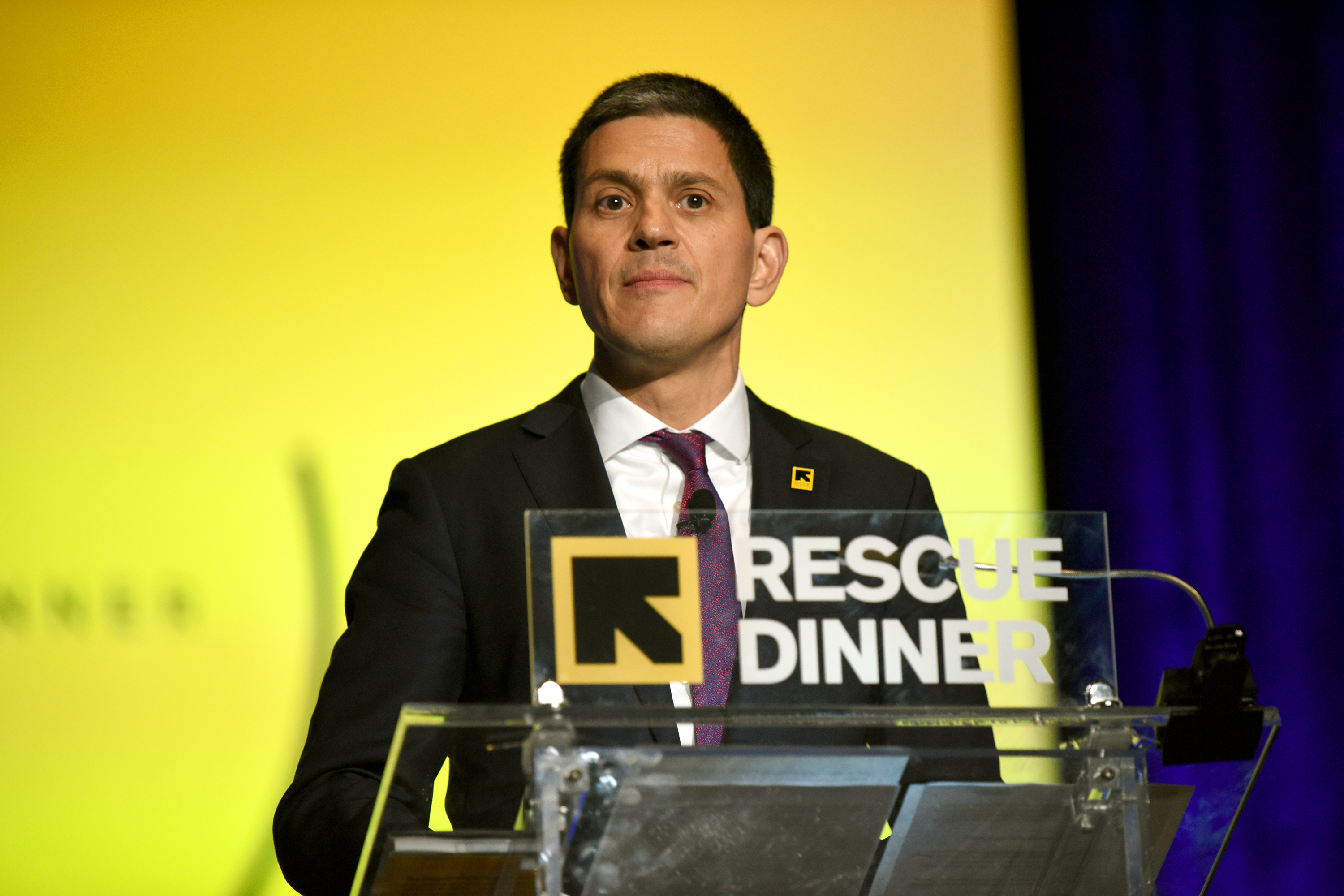 NOV. 02 -  International Rescue Committee (IRC) President & CEO David Miliband speaks onstage at The 2017 IRC Rescue Dinner