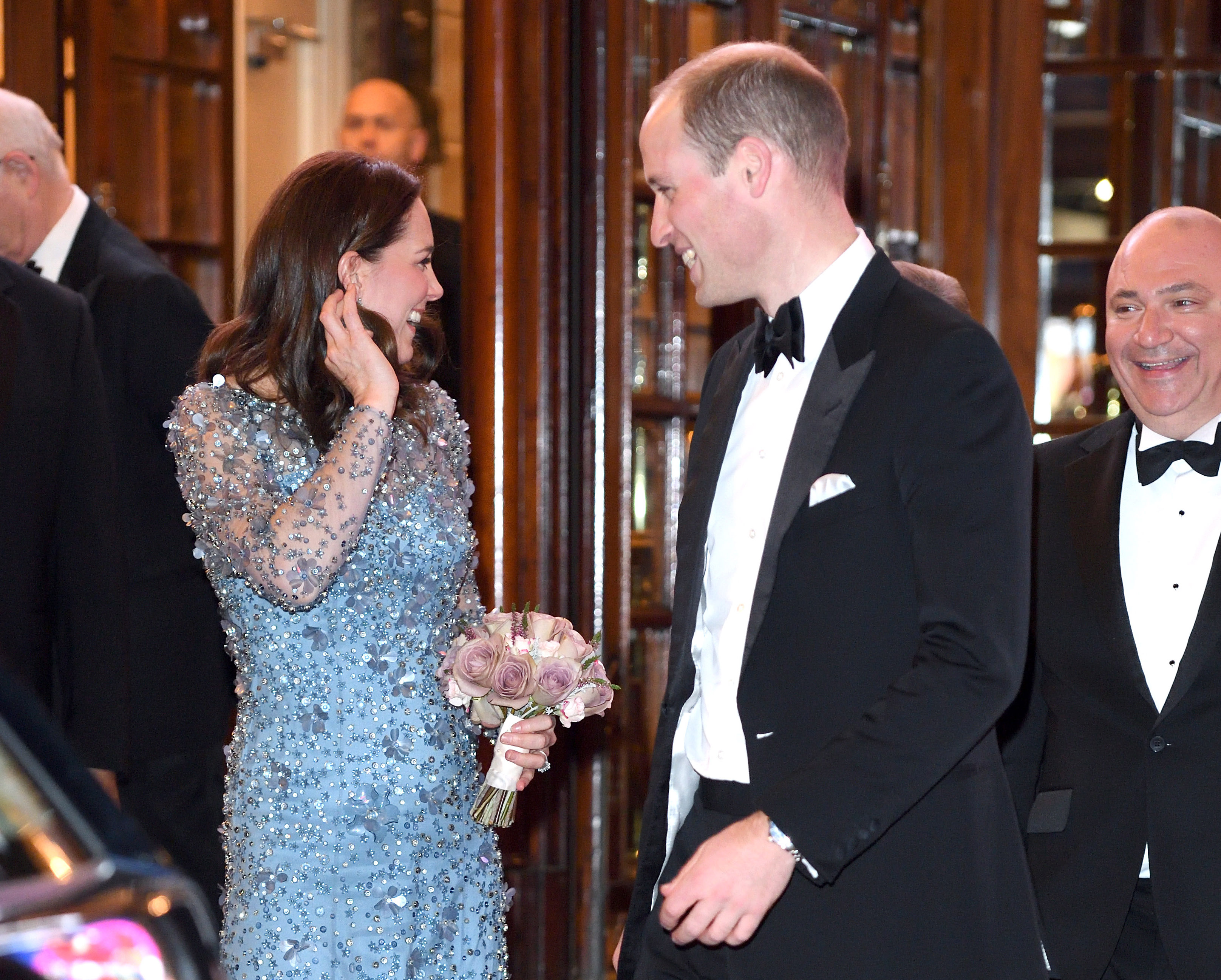 LONDON, ENGLAND - NOVEMBER 24:  Catherine, Duchess of Cambridge and Prince William, Duke of Cambridge attend the Royal Variety Performance  at the Palladium Theatre on November 24, 2017 in London, England.  (Photo by Karwai Tang/WireImage)