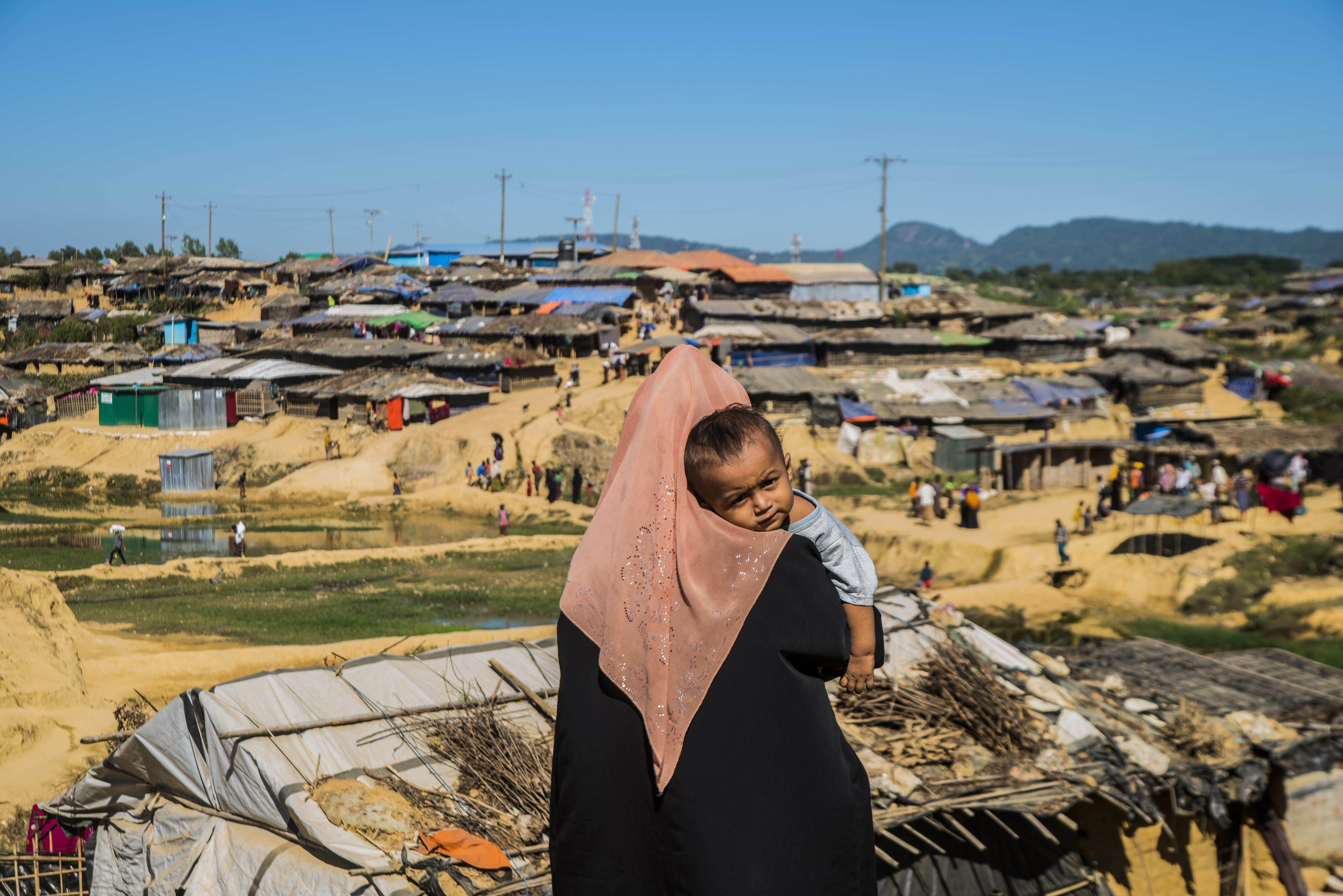Rohingya people at a refugee camp in Cox's Bazar, Bangladesh on Dec. 3, 2017.
