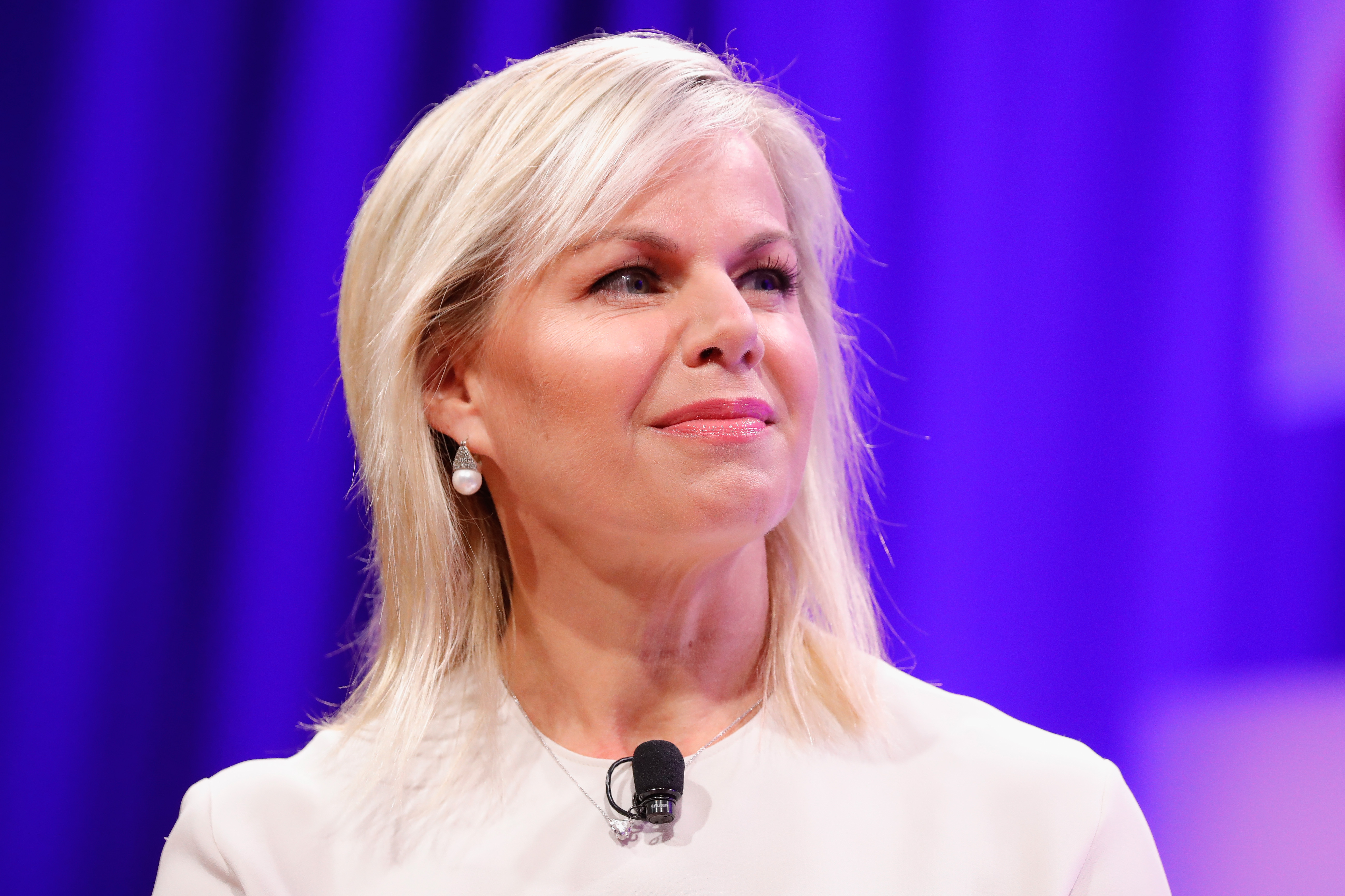 Former Fox News anchor Gretchen Carlson speaks onstage at the Fortune Most Powerful Women Summit on Oct. 11, 2017 in Washington, D.C.