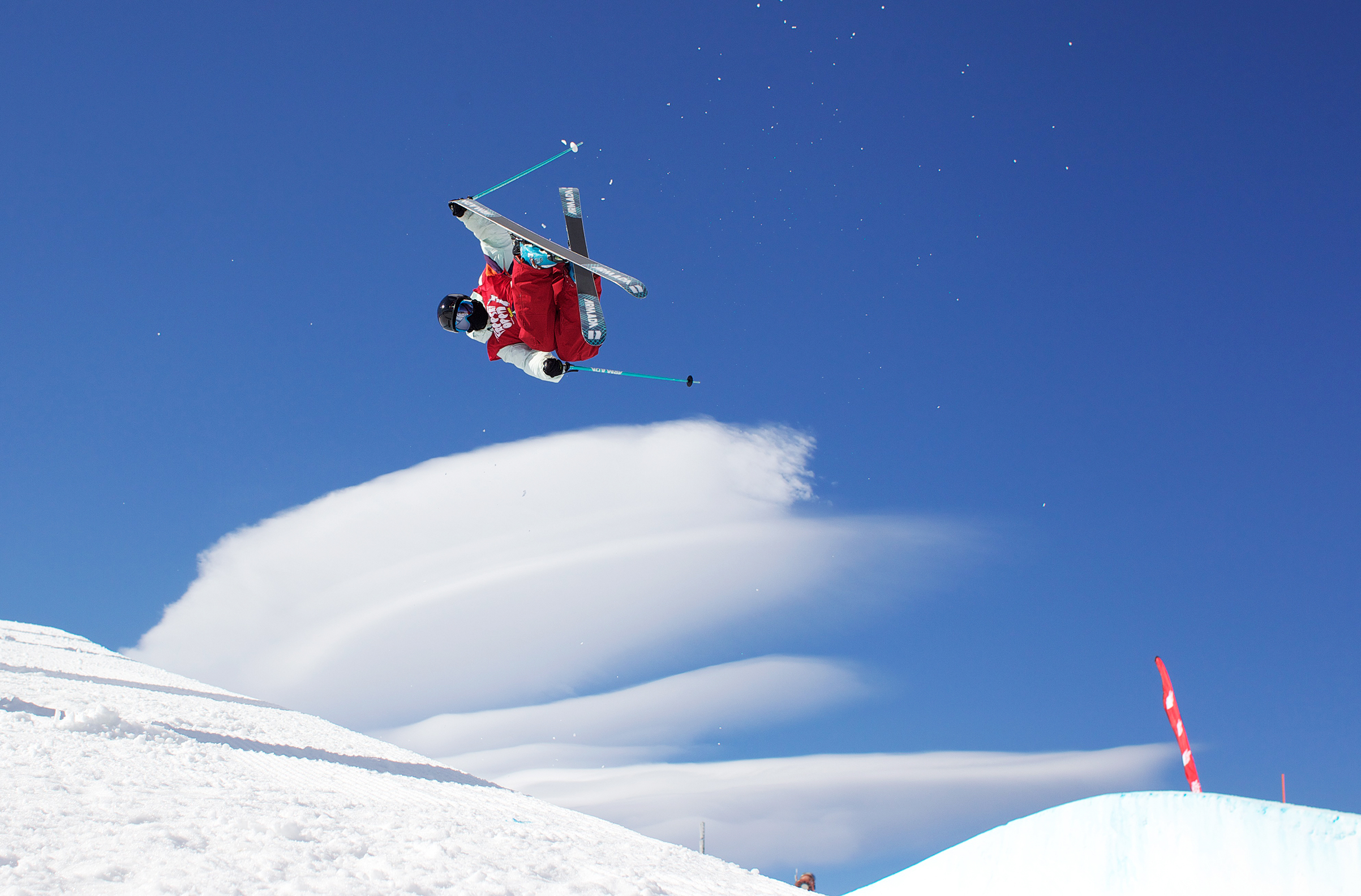 Kenworthy, who took to freestyle skiing as a kid in Colorado, catches air at a halfpipe competition