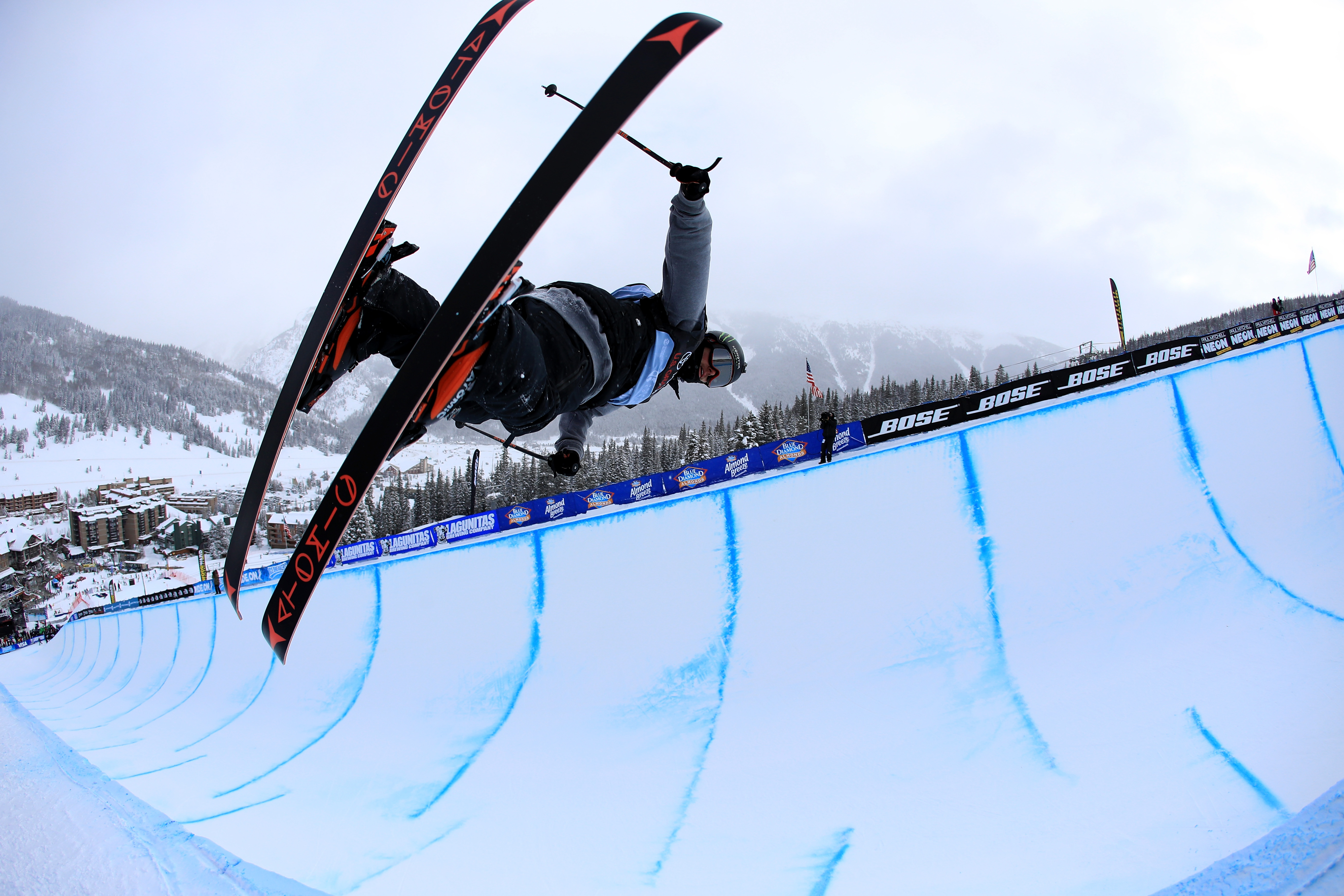 Gus Kenworthy competes in the final round of the FIS Freestyle Ski World Cup 2017 Men's Ski Halfpipe during The Toyota U.S. Grand Prix at Copper Mountain on December 17, 2016 in Copper Mountain, Colorado. Sean M. Haffey—Getty Images.