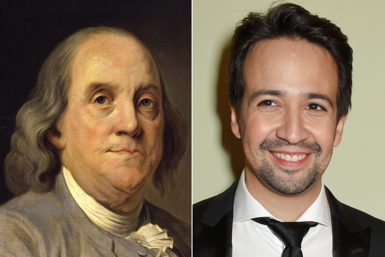 Ben Franklin and Lin-Manuel Miranda.