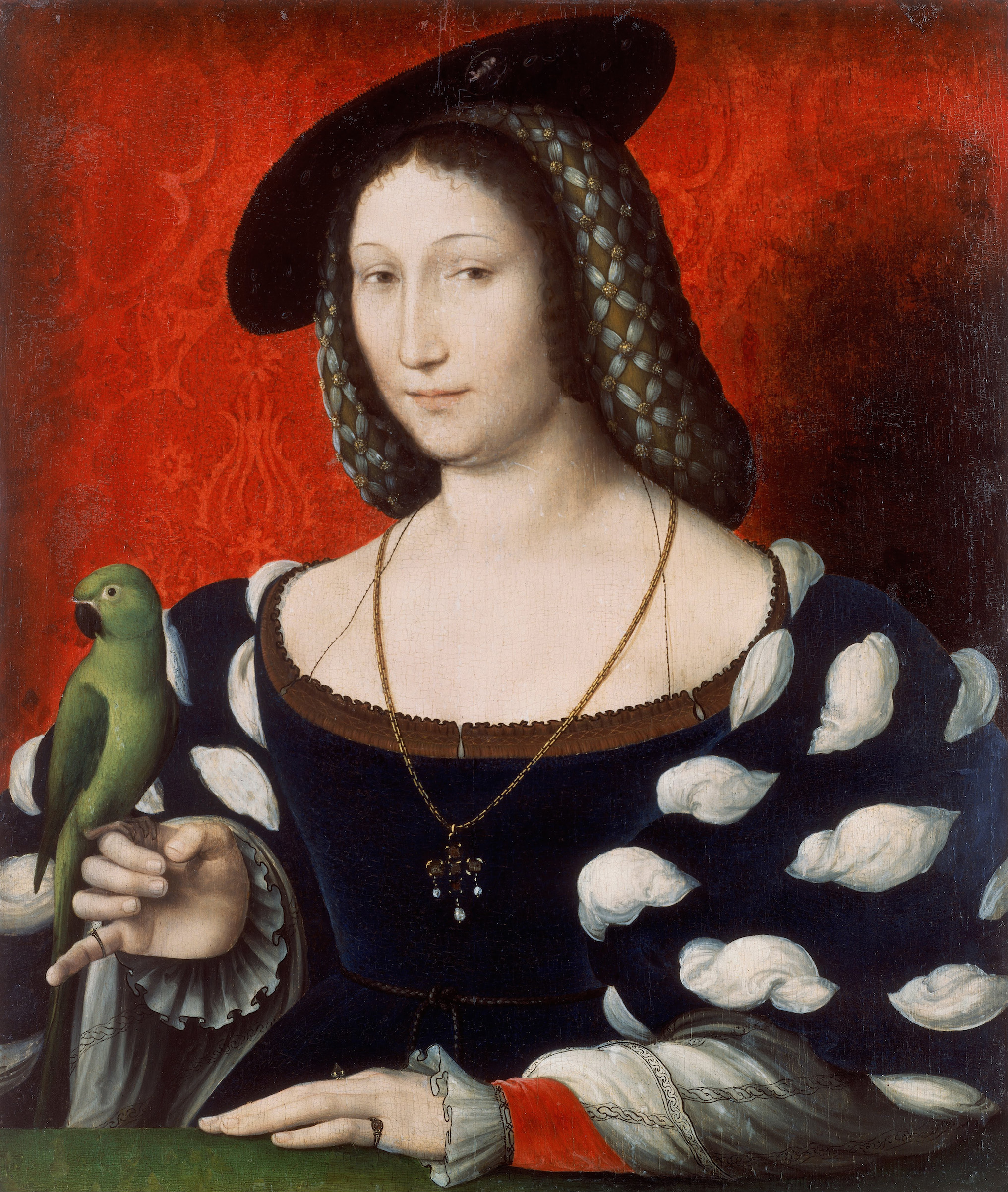 Portrait of Marguerite of Navarre, c. 1527. Found in the collection of Walker Art Gallery. Artist :  Clouet, Jean (c. 1485-1541).