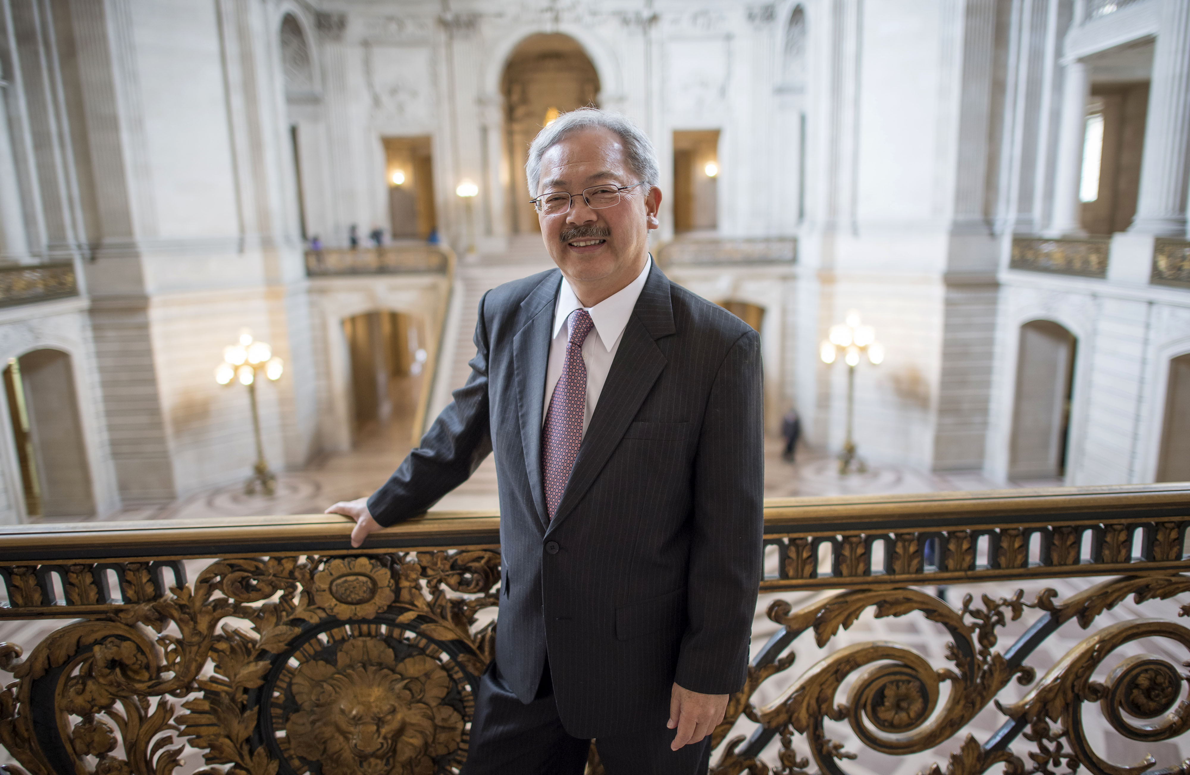 Edwin  Ed  Lee, mayor of San Francisco, stands for a photograph inside City Hall in San Francisco, California in August
