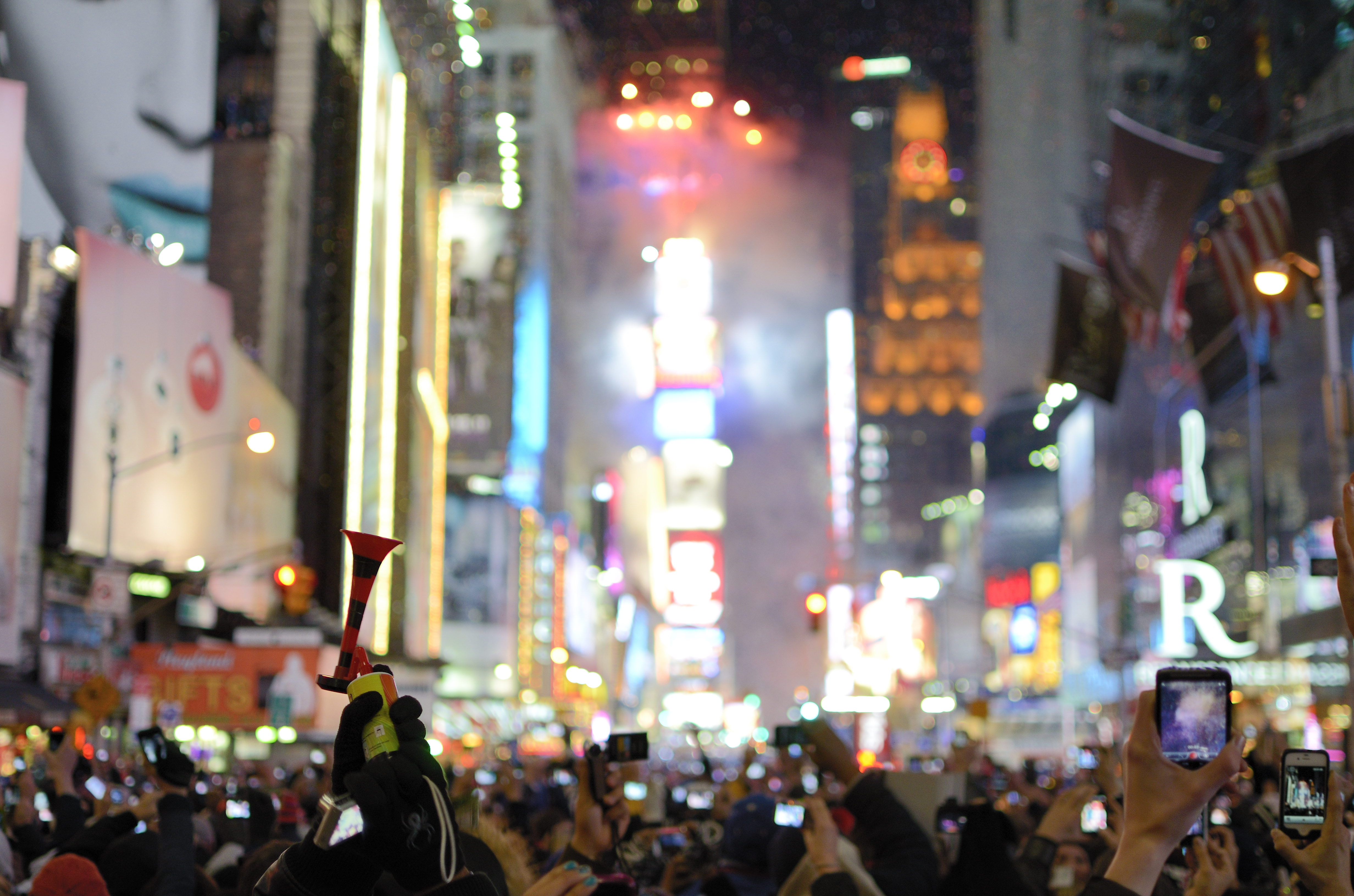 New Year's Eve celebration in Times Square, New York City.