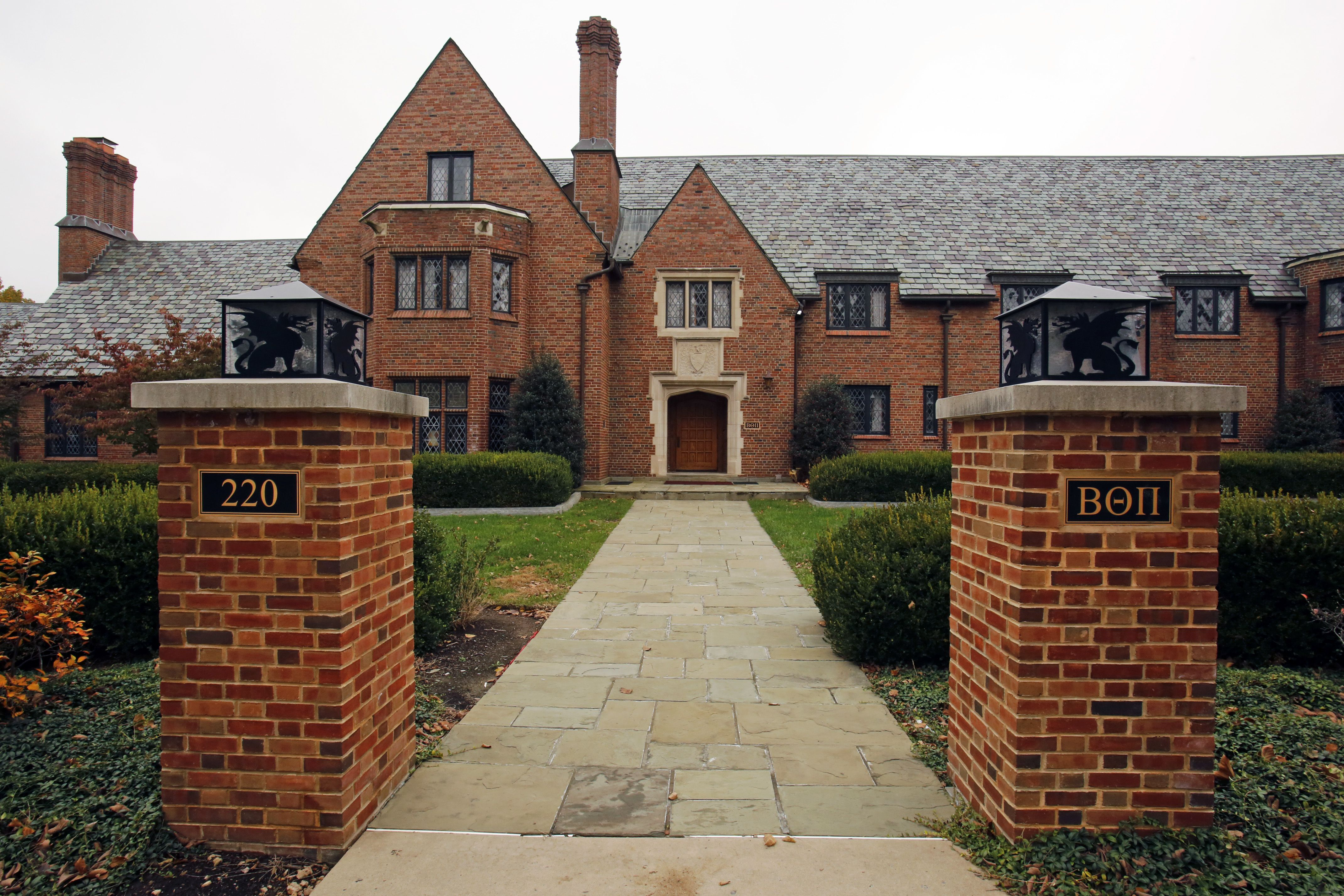 This is the Beta Theta Pi fraternity house on the Penn State University main campus in State College, Pa.