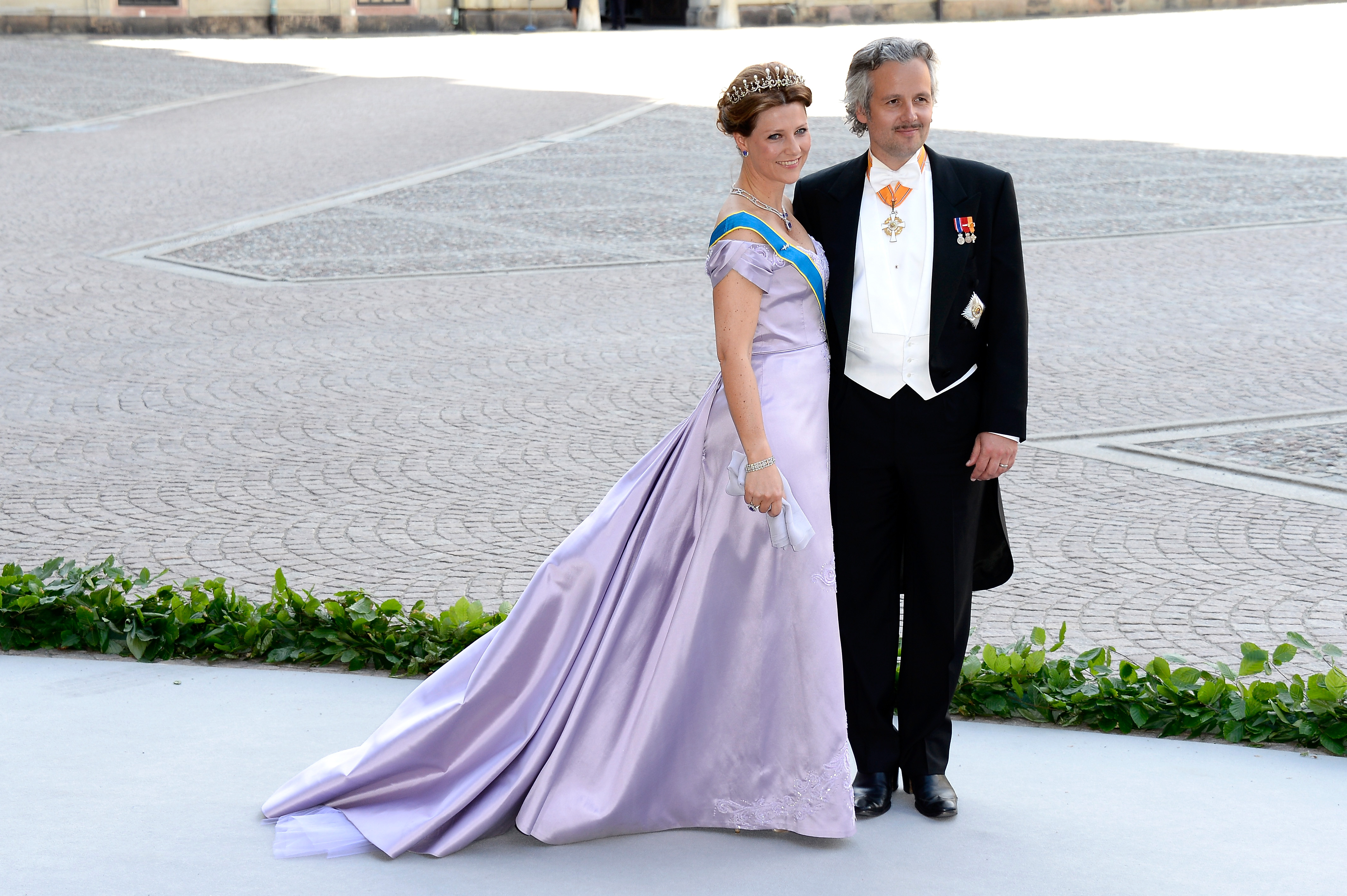 Princess Martha Louise of Norway and Ari Mikael Behn attend the wedding of Princess Madeleine of Sweden and Christopher O'Neill hosted by King Carl Gustaf XIV and Queen Silvia at The Royal Palace on June 8, 2013 in Stockholm, Sweden.