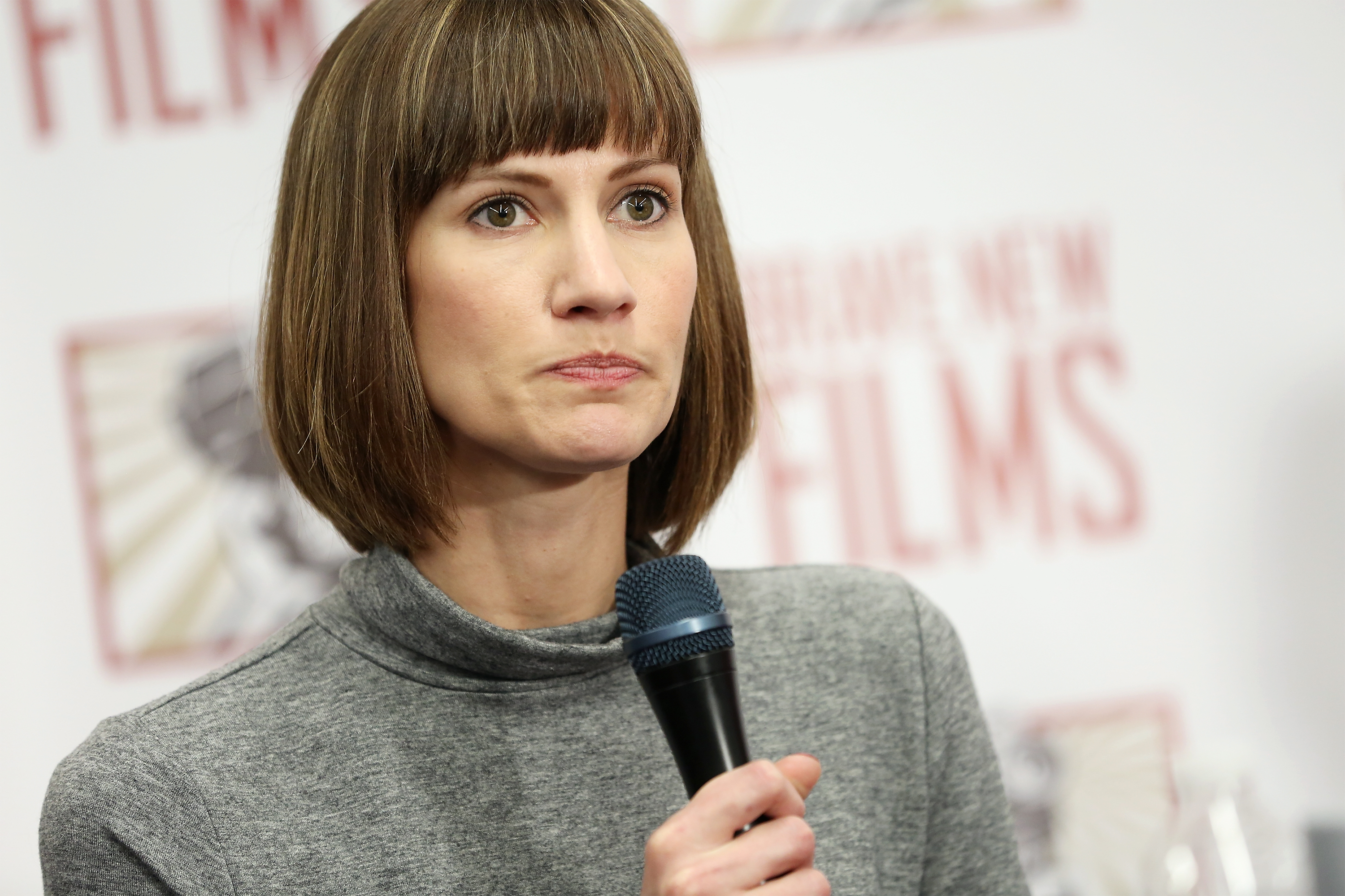 Rachel Crooks speaks during the press conference on Dec. 11, 2017. (Monica Schipper)