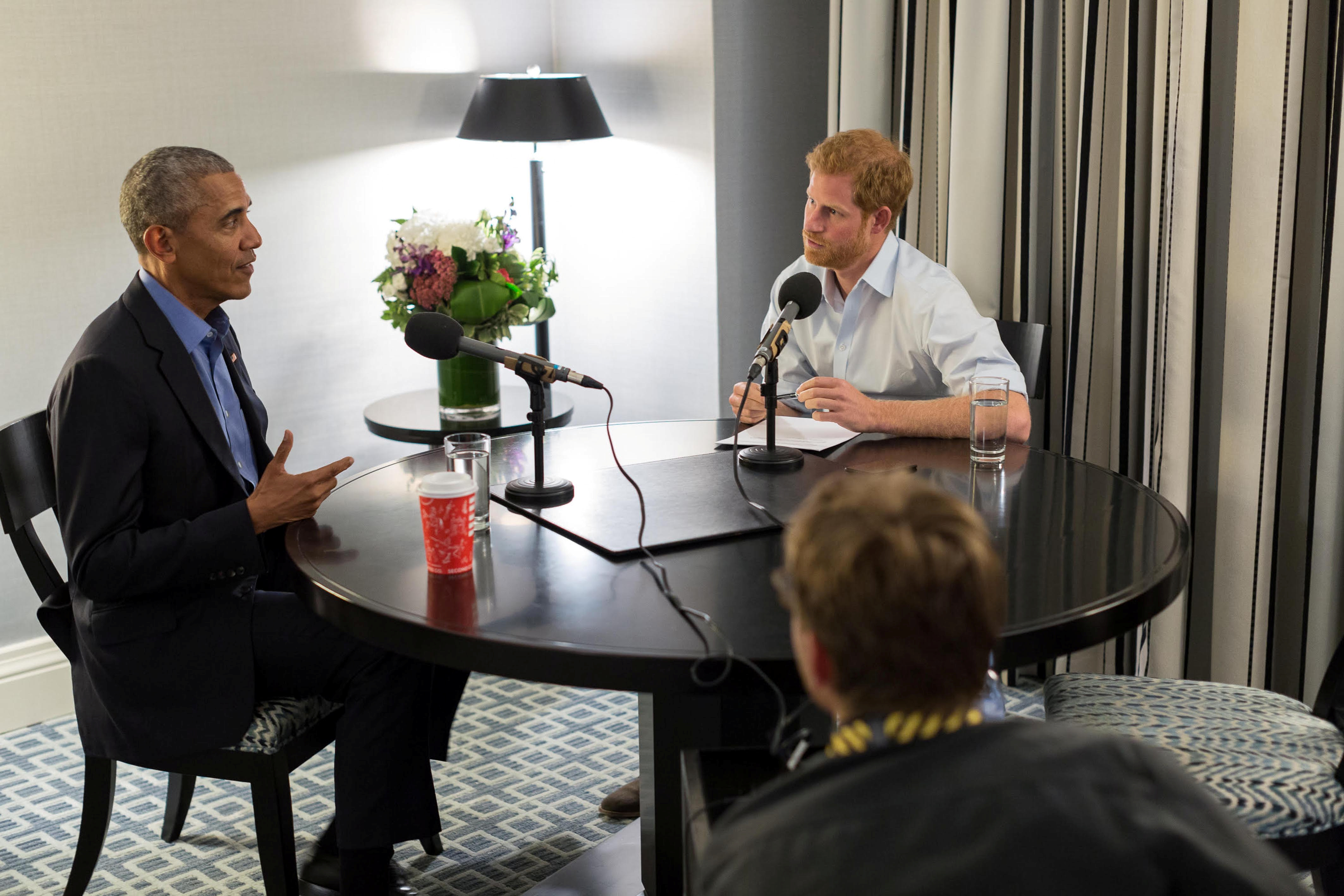 Prince Harry interviews former President Barack Obama on BBC Radio 4's Today program, which was broadcast on Dec. 27, 2017.