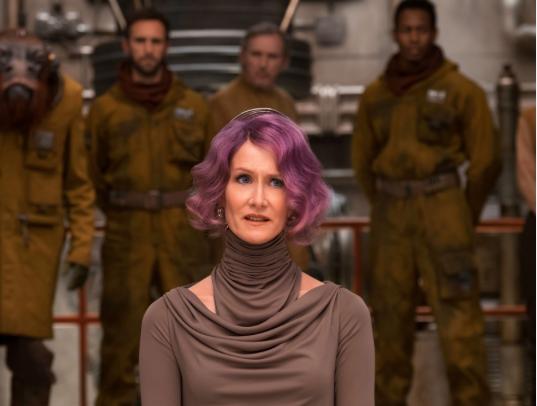 Laura Dern is Vice Admiral Holdo in THE LAST JEDI.