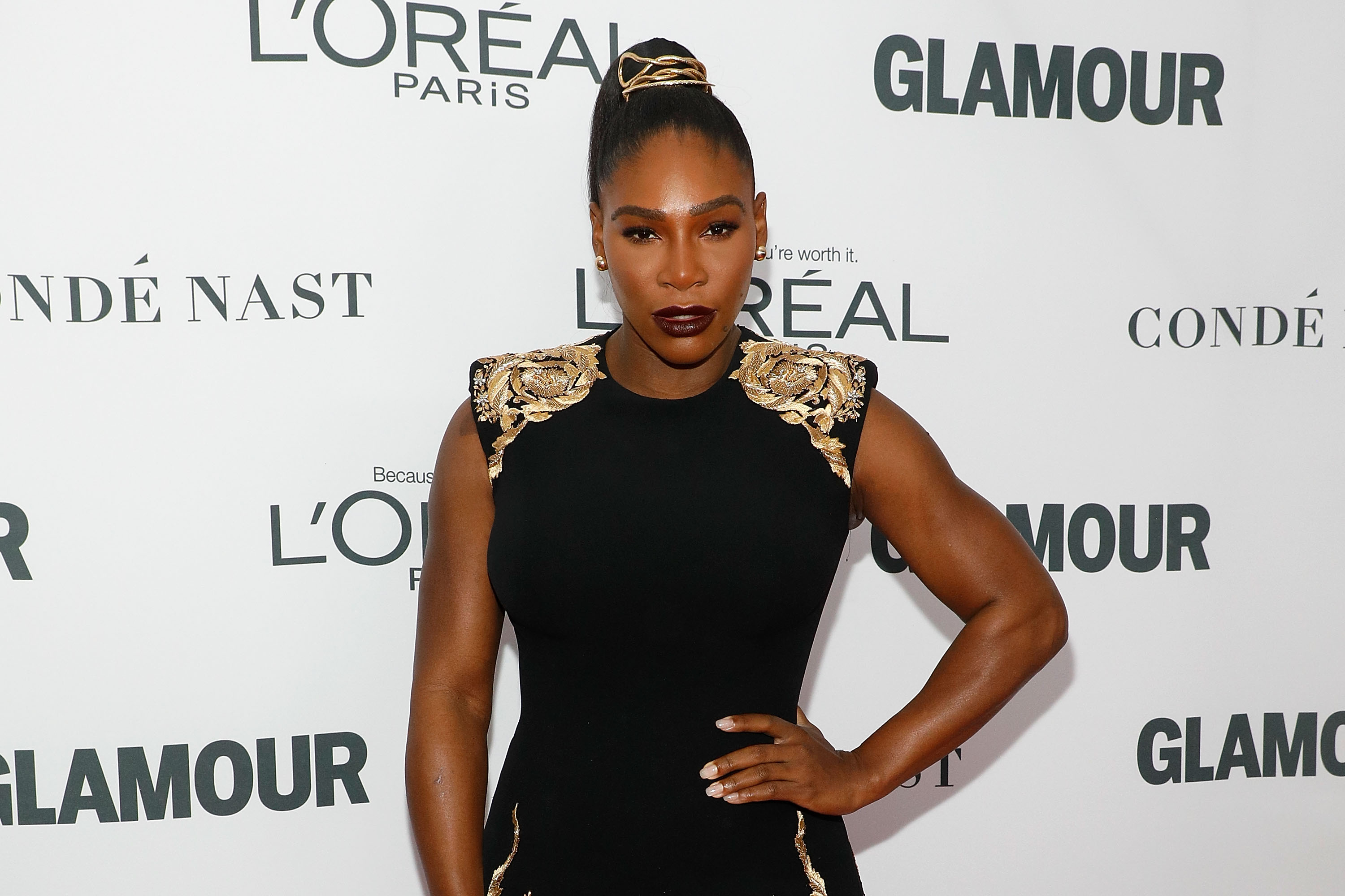 Serena Williams attends the 2017 Glamour Women of the Year Awards in New York City.