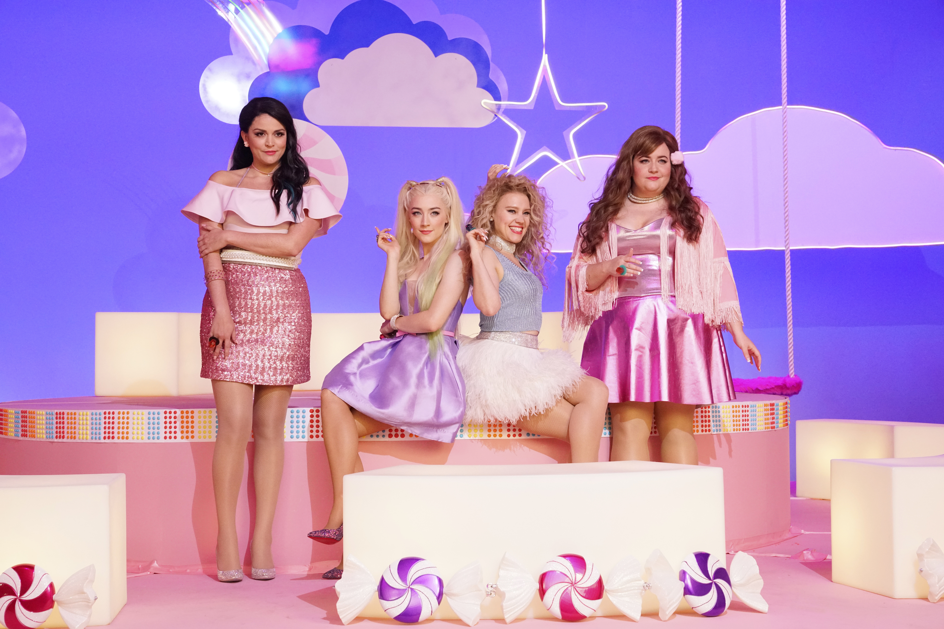 Cecily Strong, Saoirse Ronan, Kate McKinnon, and Aidy Bryant perform  Girl Song  on  SNL  on Dec. 2 2017