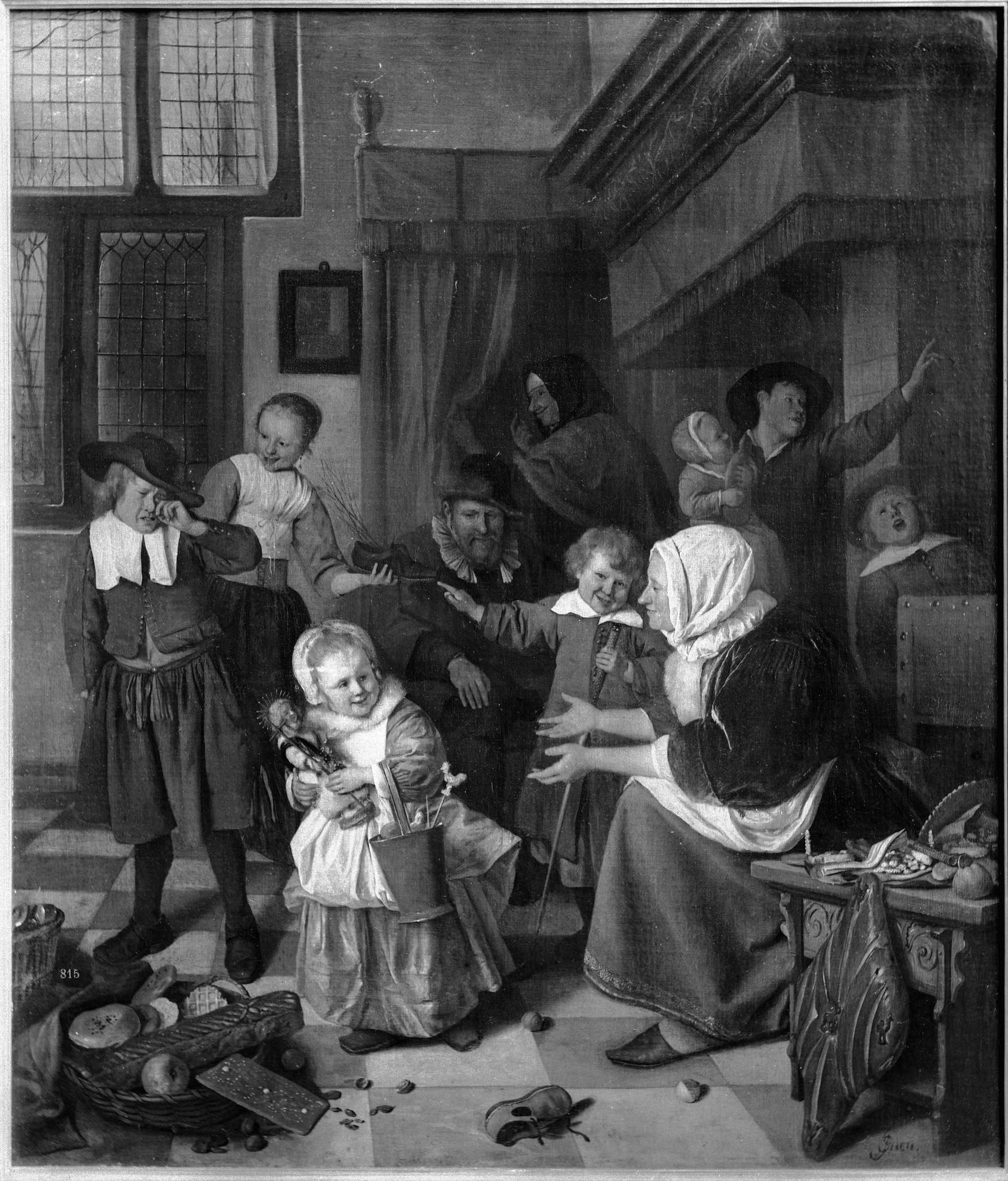 St Nicholas's Day,  ca. 1626, by Jan Steen (1626-1679). Amsterdam museum.