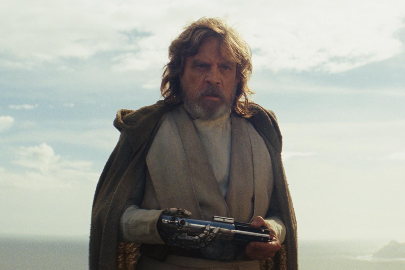 Luke Skywalker (Mark Hamill) in Star Wars: The Last Jedi