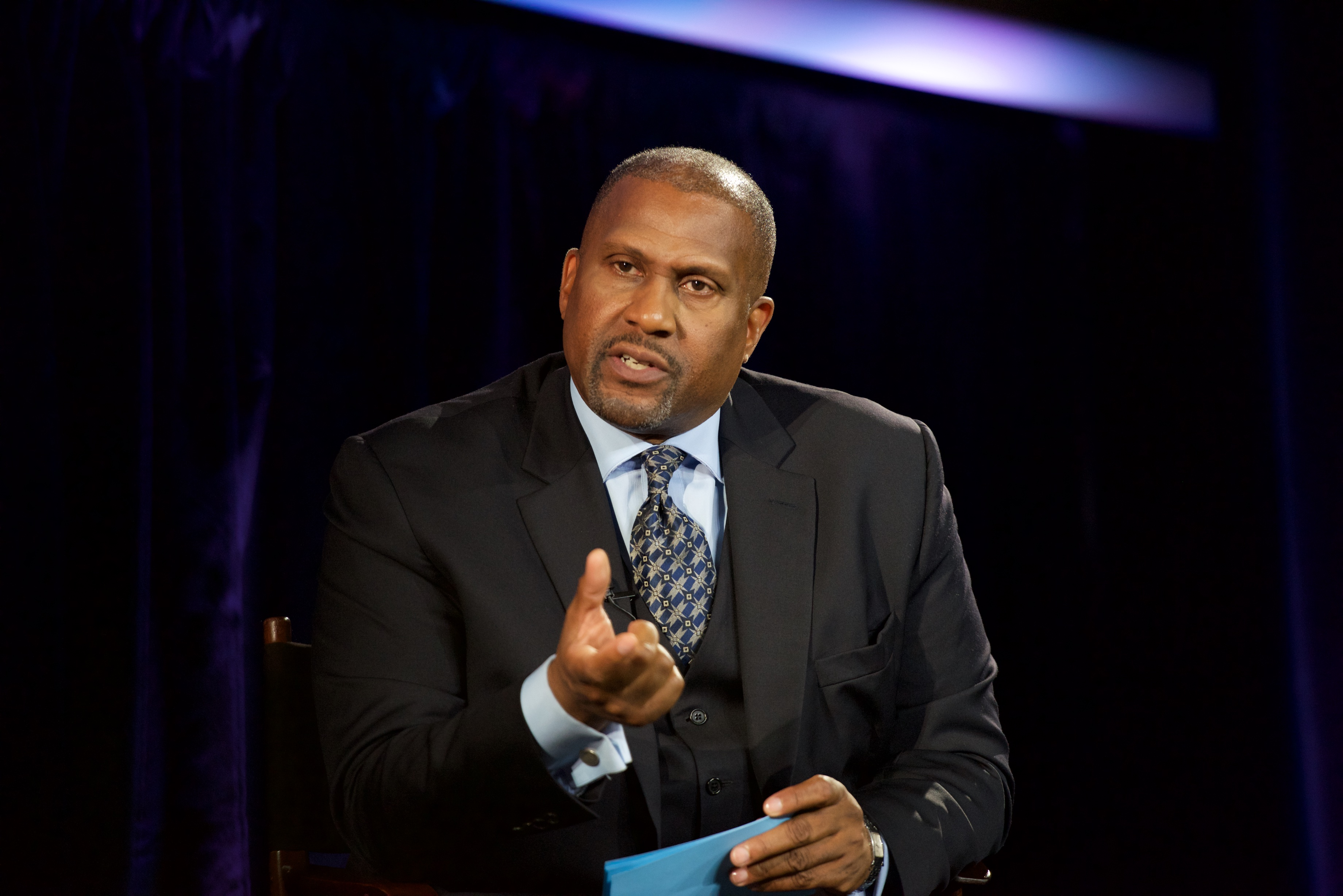 Tavis Smiley officiates Courting Justice: Little Rock, Arkansas at Central Arkansas Library on Sept. 23, 2016 in Little Rock, Arkansa.