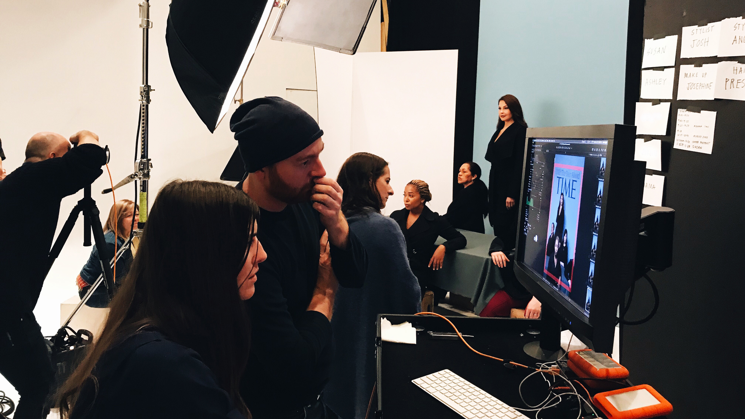 Behind the scenes of the Person of the Year cover shoot, San Francisco, Nov. 19, 2017.