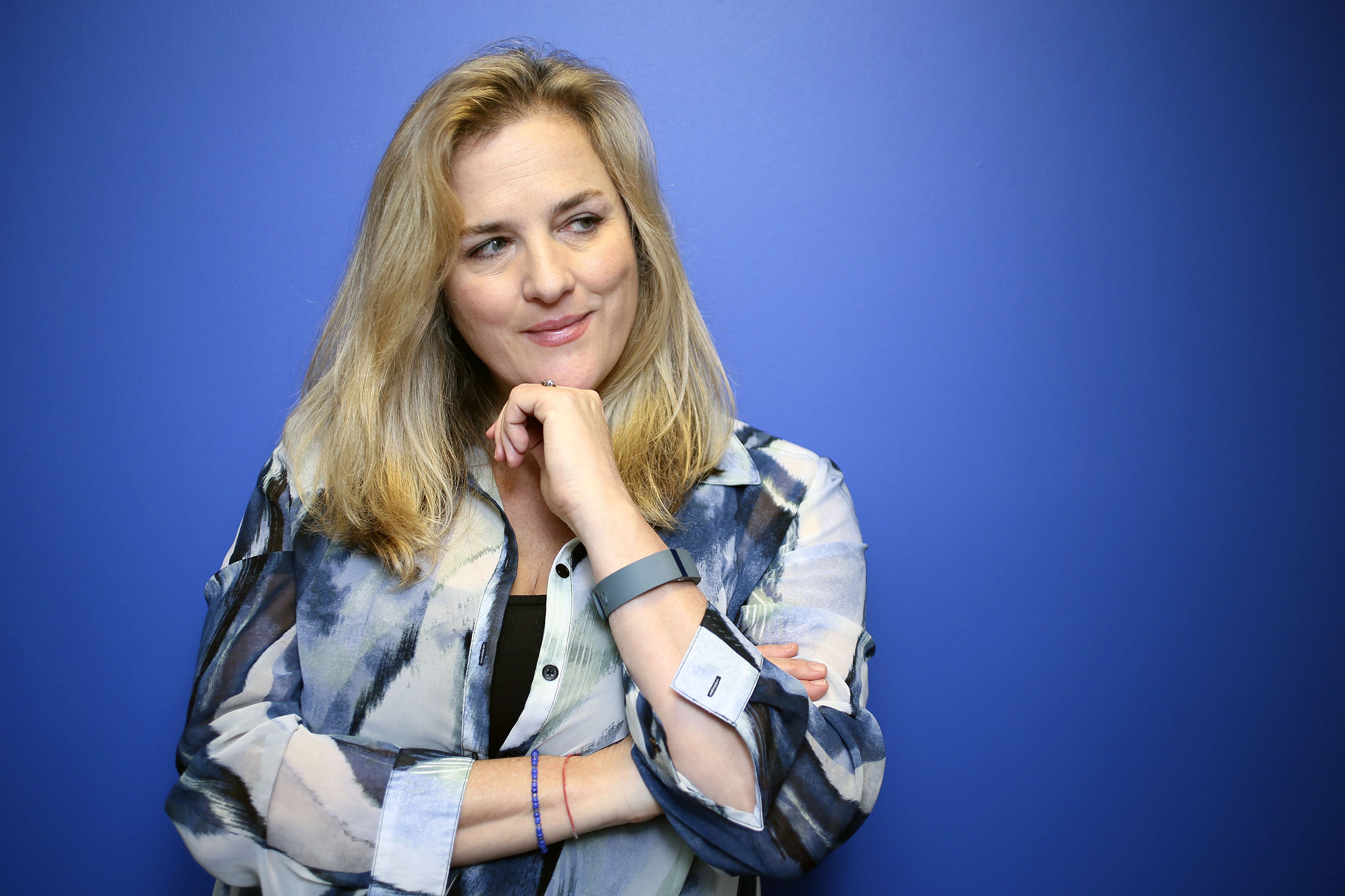 Journalist Natasha Stoynoff poses at the Simon & Schuster offices in downtown Toronto, Jan. 18, 2017.