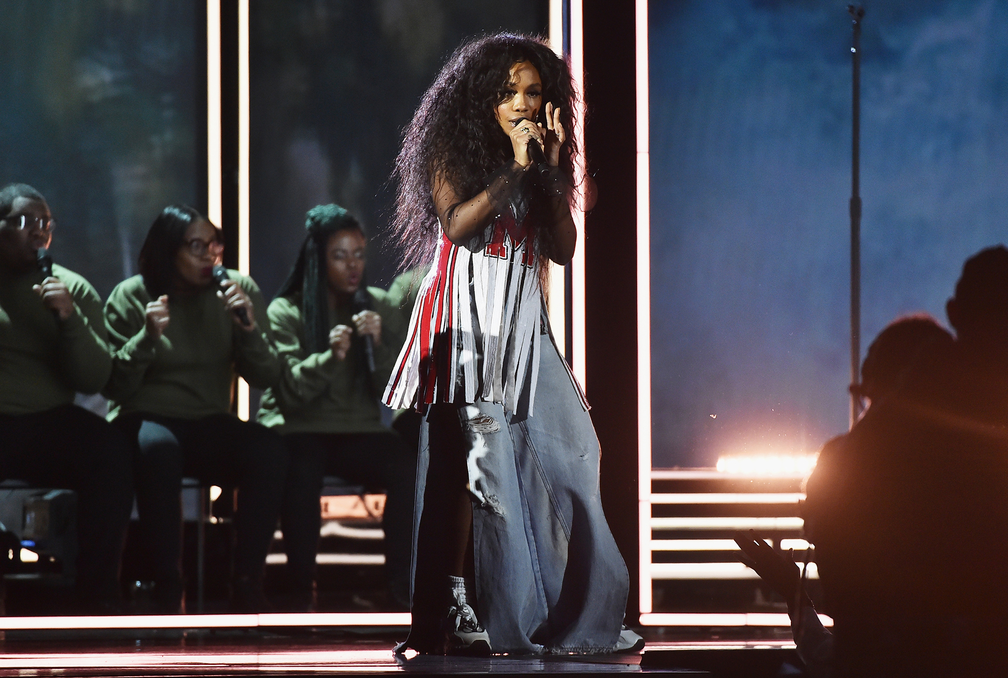 Recording artist SZA performs onstage during the 60th Annual Grammy Awards at Madison Square Garden on Jan. 28, 2018 in New York City. Theo Wargo—WireImage/Getty Images